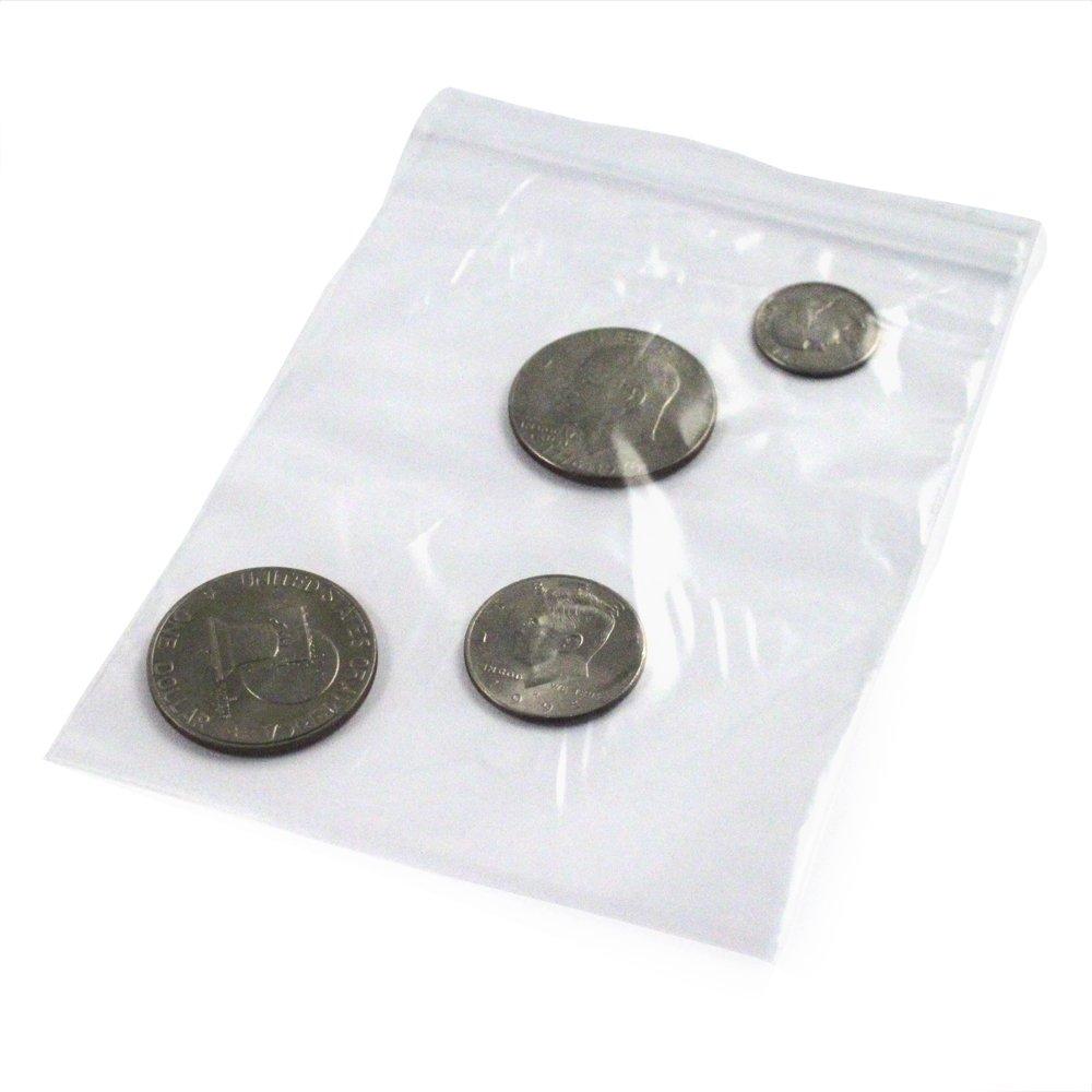 100pk 5 x 7 Self Locking Plastic Bags 2mm Thick All Purpose Storage Baggies