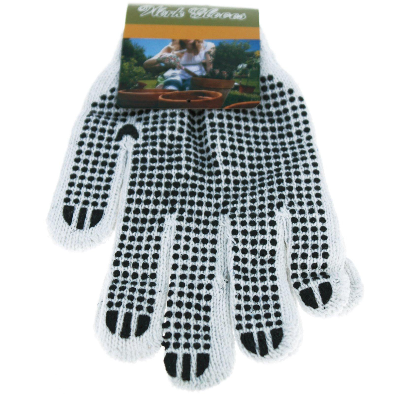 Universal - Dot Grip Non-Slip Gardening Work Gloves - Black