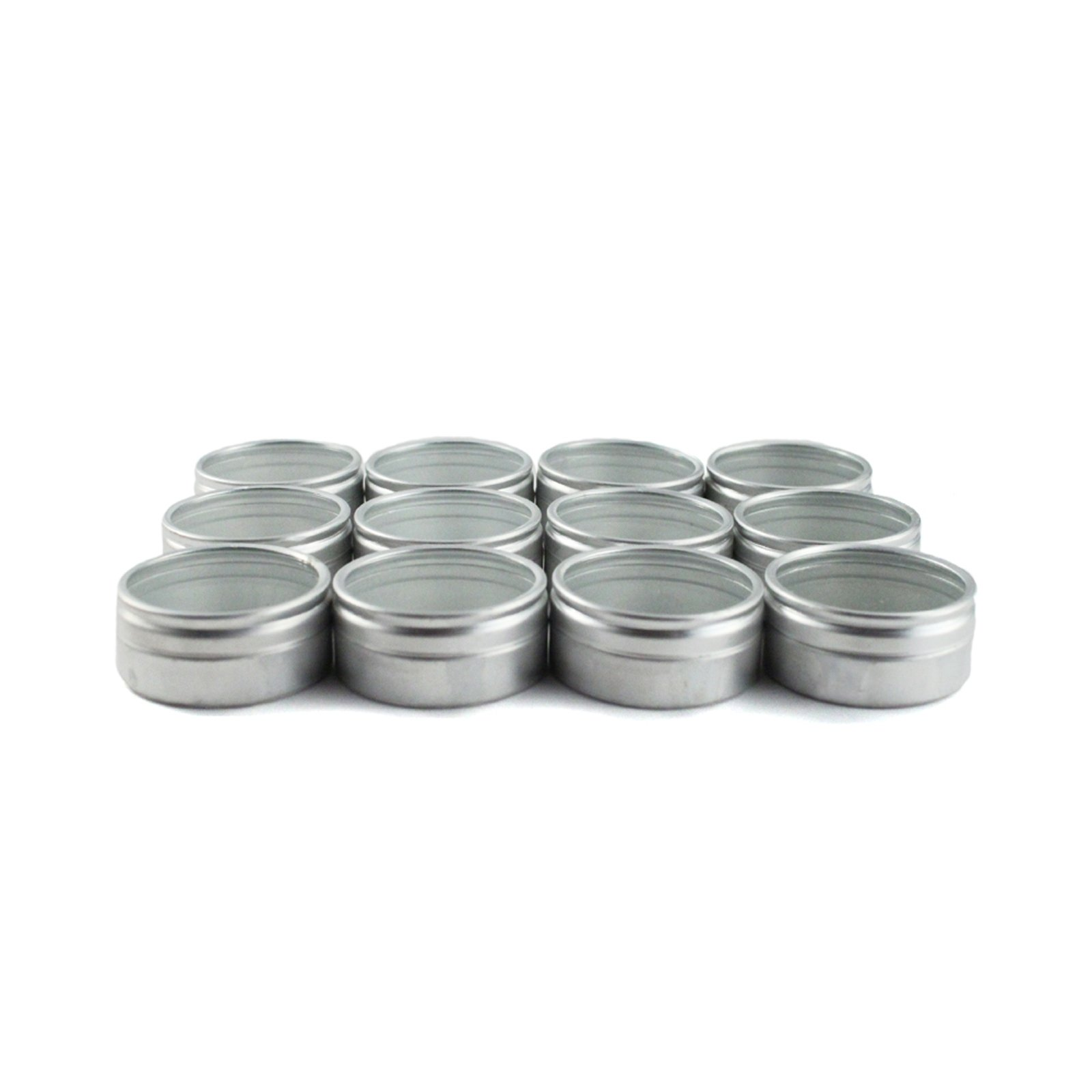 12pc Jewelery and Crafting Small Aluminum Container Jars