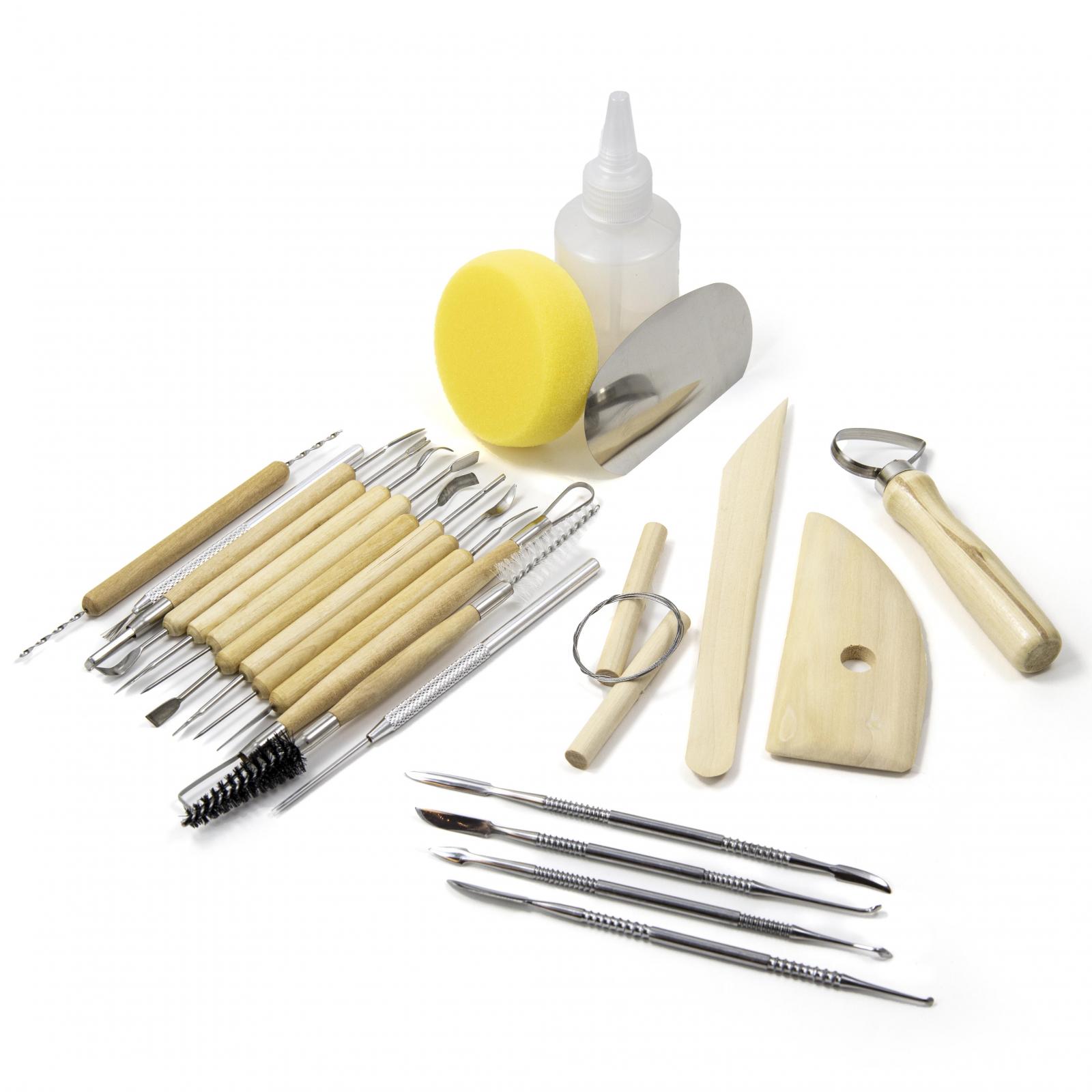 ToolTreaux Beginner Pottery Sculpting Art Supplies Tools Kit