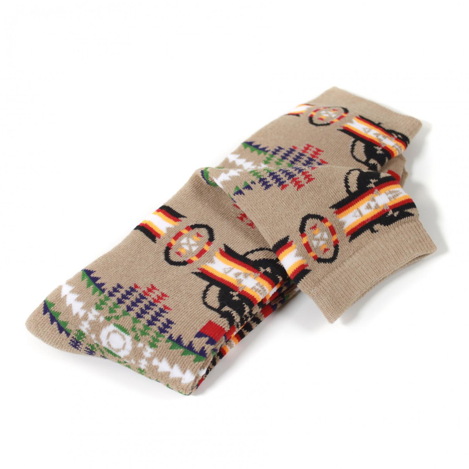 ASR Outdoor Adventure Wilderness Socks One Size Fits Most Southwest Pattern Brown