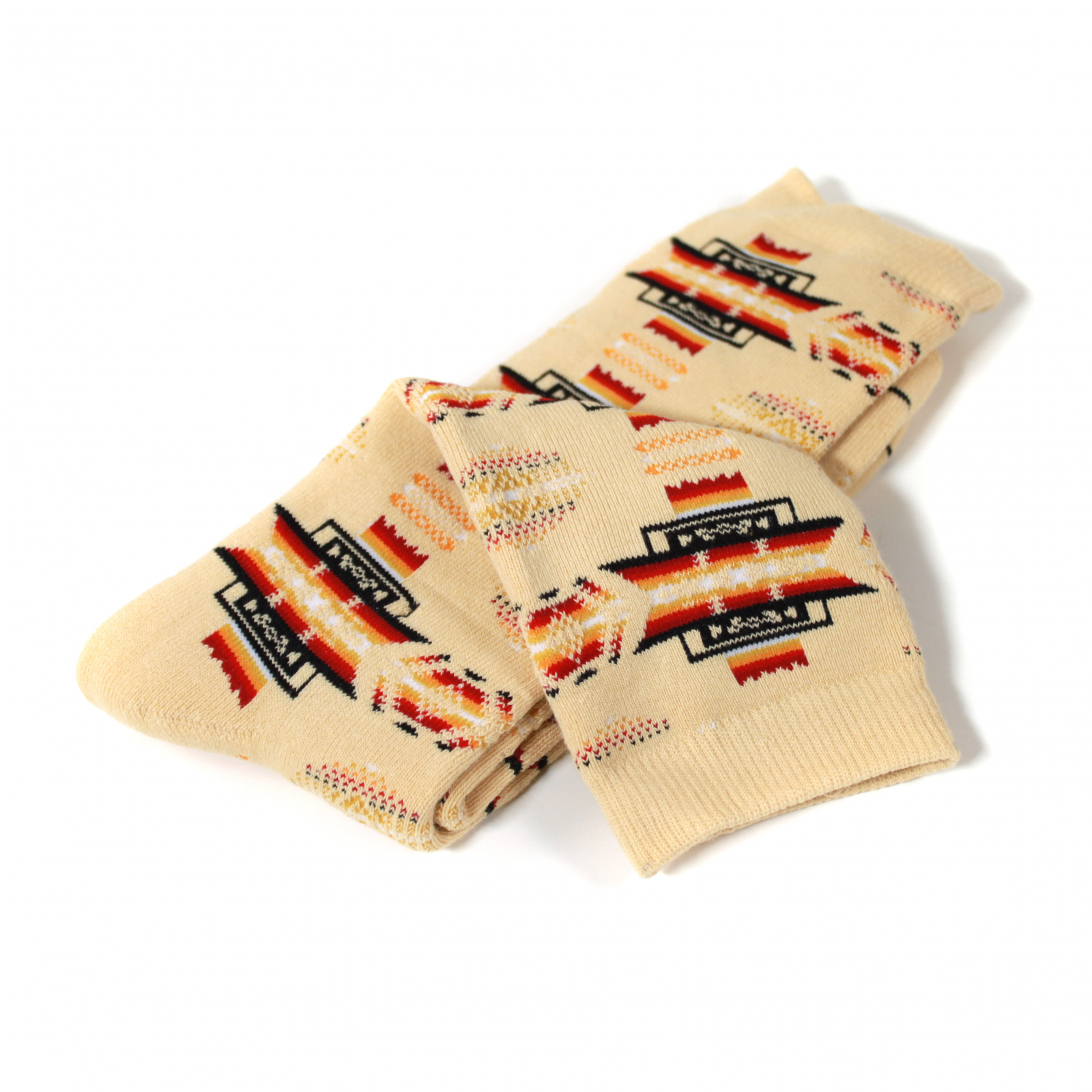ASR Outdoor Adventure Wilderness Socks One Size Fits Most Southwest Pattern Tan