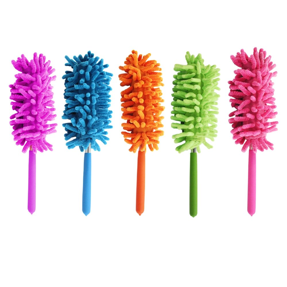 2pc Extendable Flexible Feather Duster For Home And Office Cleaning Supplies