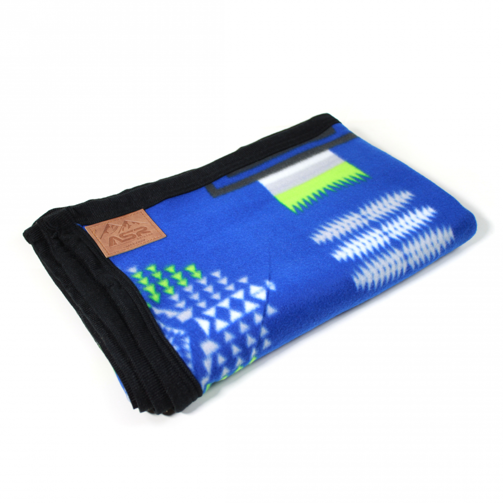 ASR Outdoor Southwest Style Fleece Blanket Full Blue Green