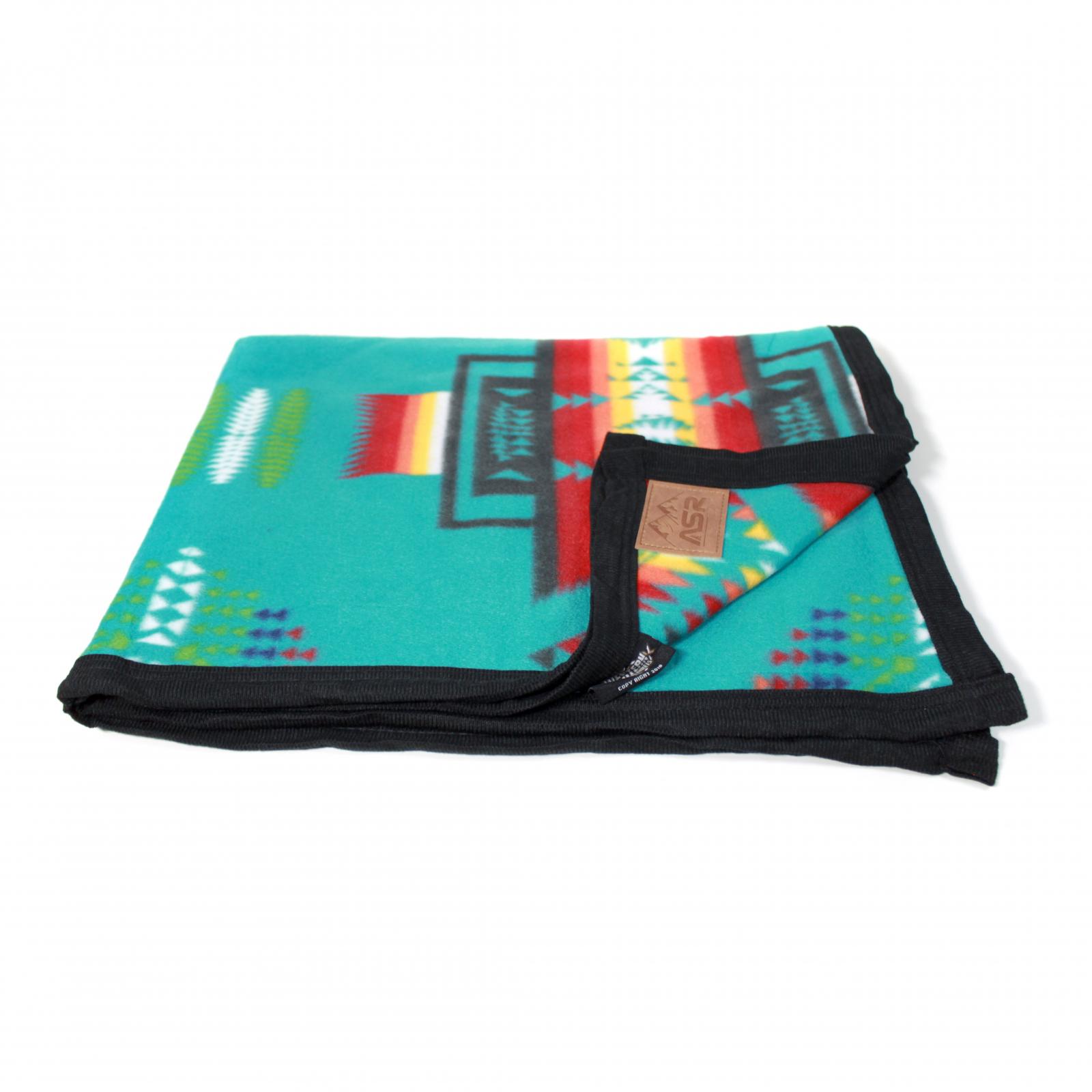ASR Outdoor Southwest Style Fleece Blanket Full Turquoise