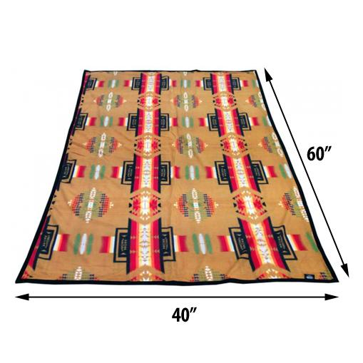 ASR Outdoor Southwest Style Fleece Blanket Small Size Brown