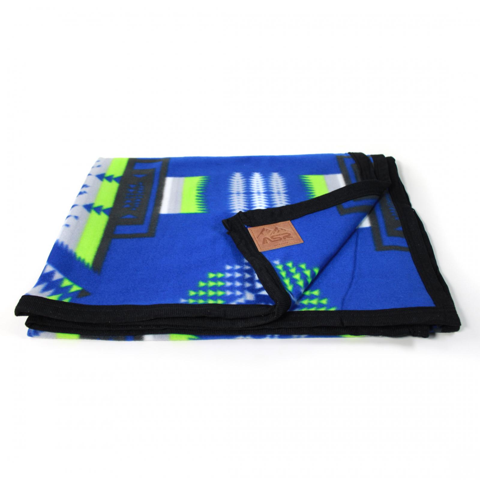 ASR Outdoor Southwest Style Fleece Blanket Small Size Blue