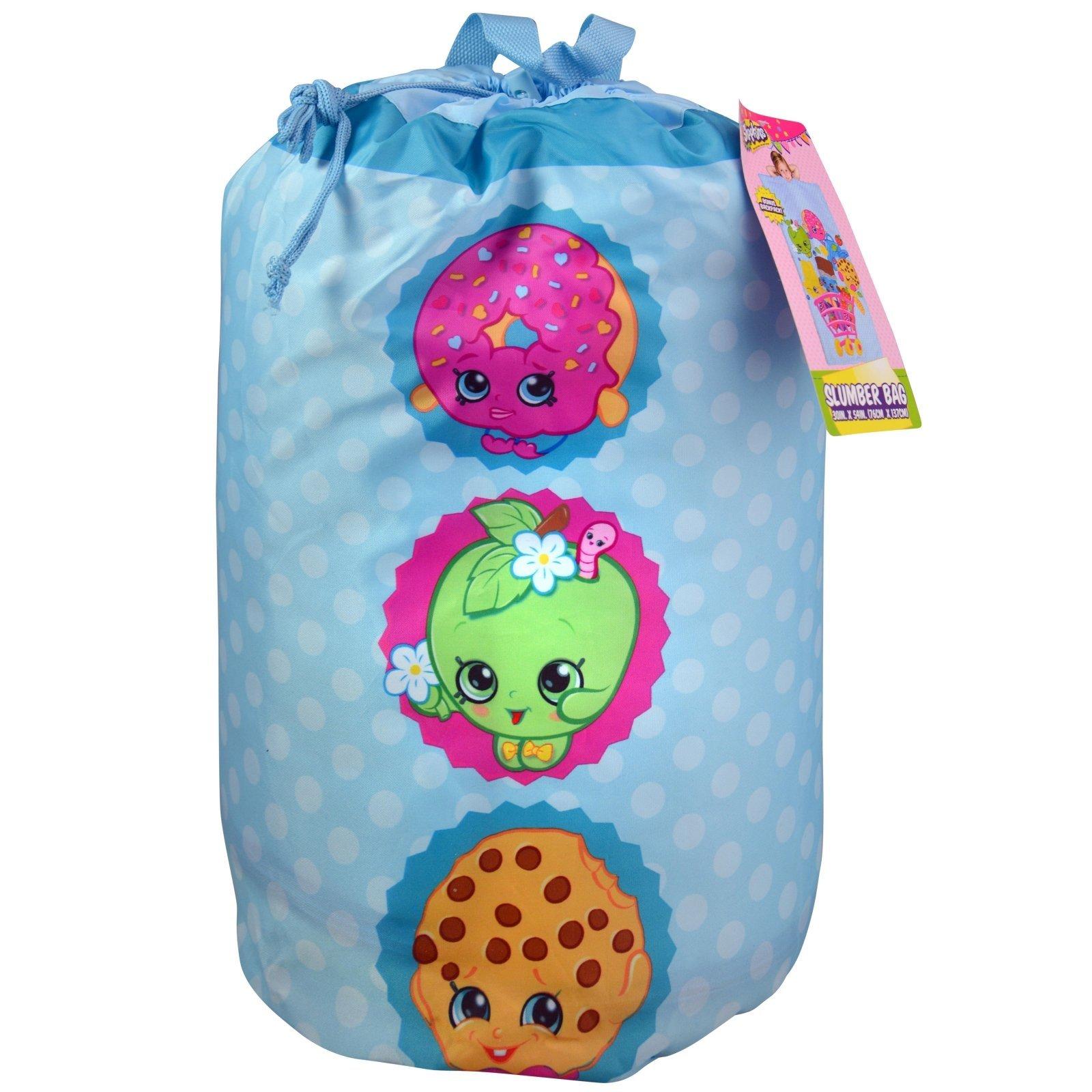 Shopkins Kids Sleeping Bag Backpack with Adjustable Straps