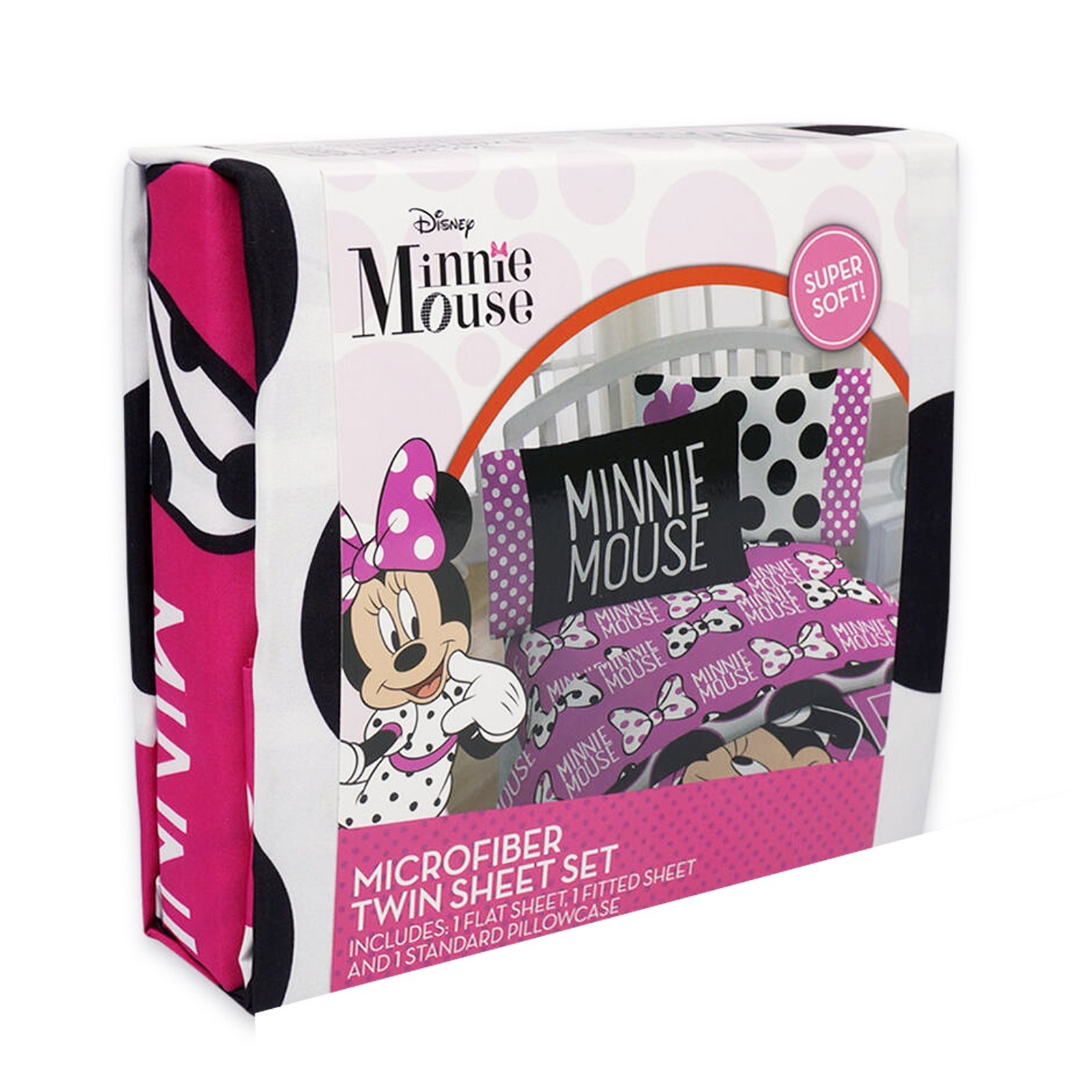 Minnie Mouse Twin Size Sheet Set with Pillow Case