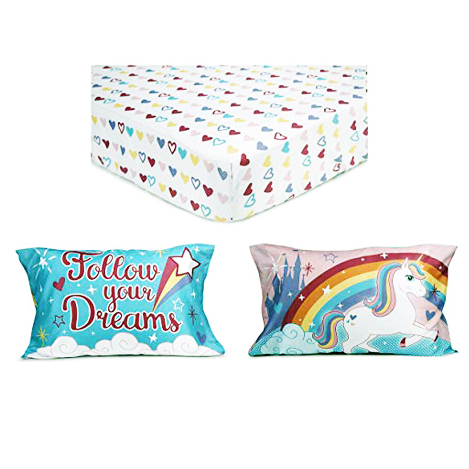 Unicorn Toddler Sheet Set with Matching Pillow Case