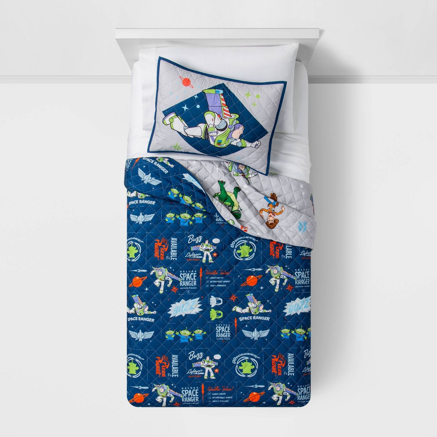 Toy Story 4 Space Ranger Kids Full/Queen Quilt And Shams Set