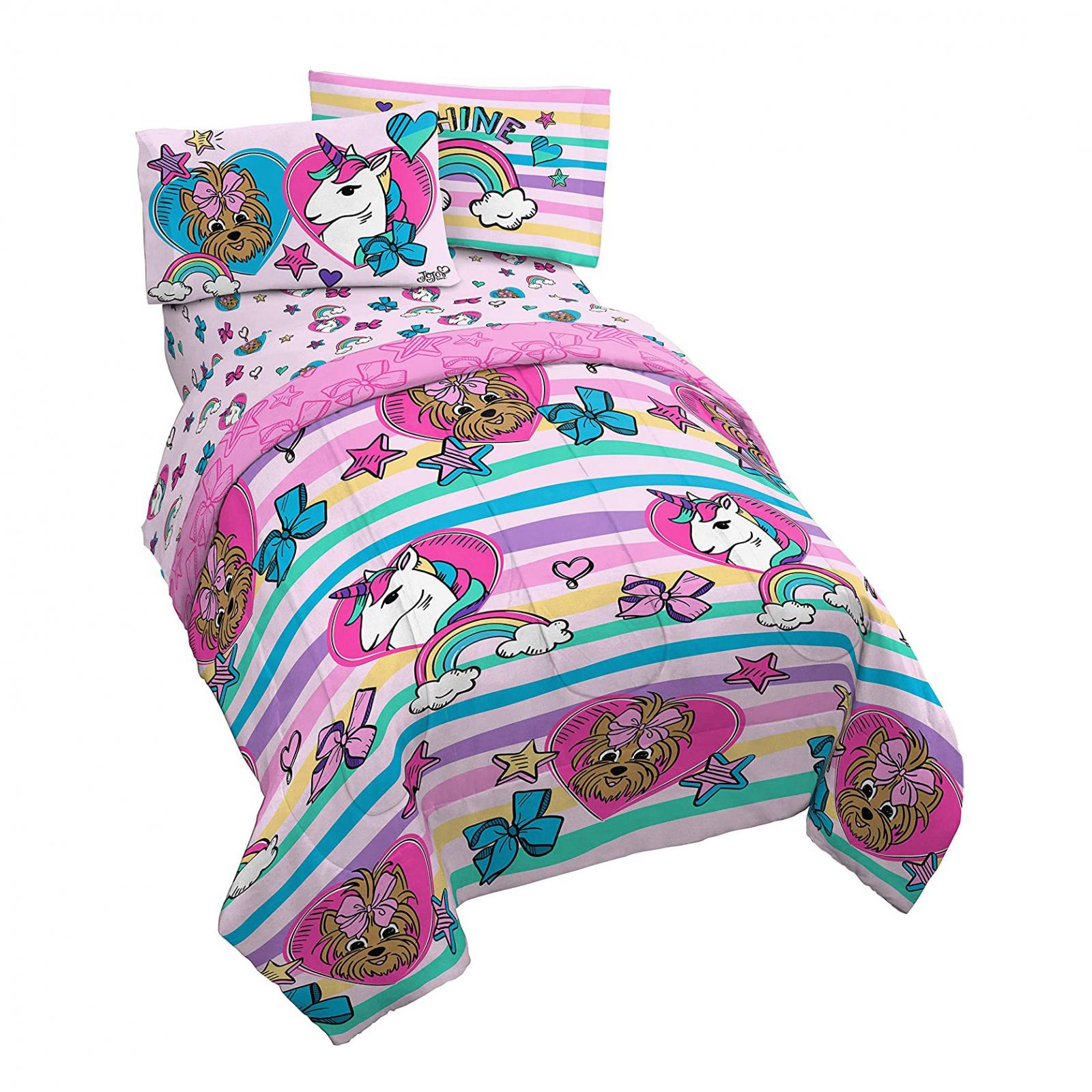 Nickelodeon JoJo Siwa Twin Comforter Reversible Design