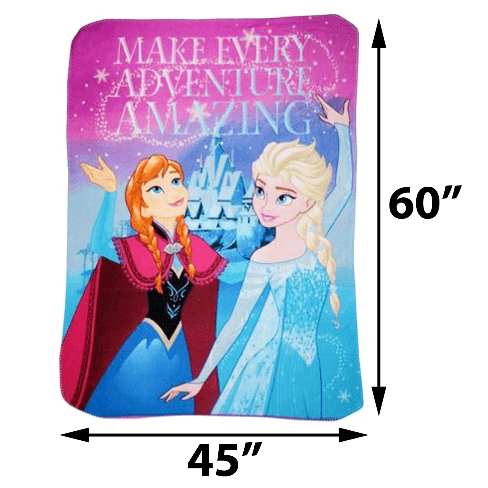 Disney Frozen Fleece Throw Blanket 45 x 60 Inch Girls Decor