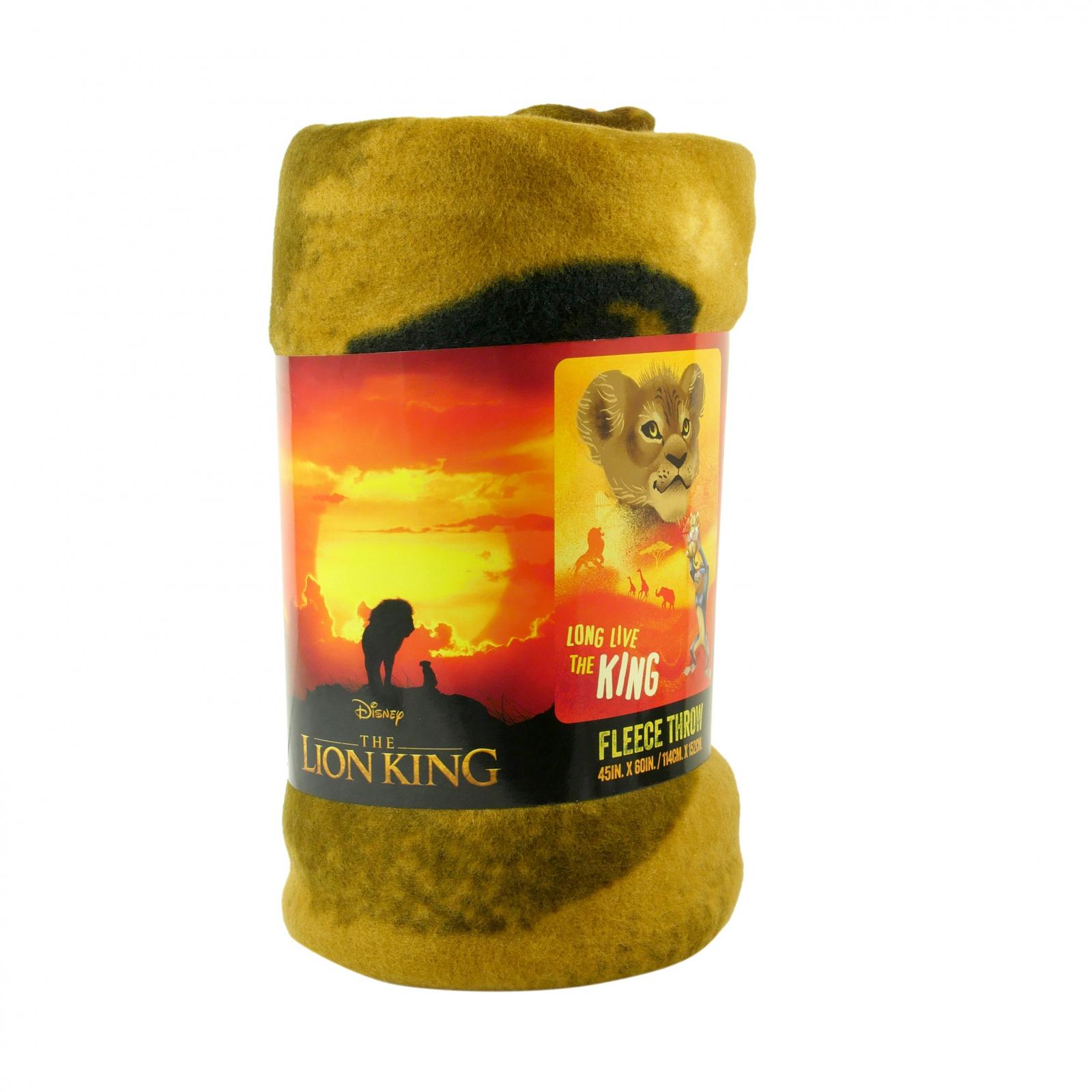The Lion King Fleece Throw Blanket 45 x 60 Inch Kids Decor