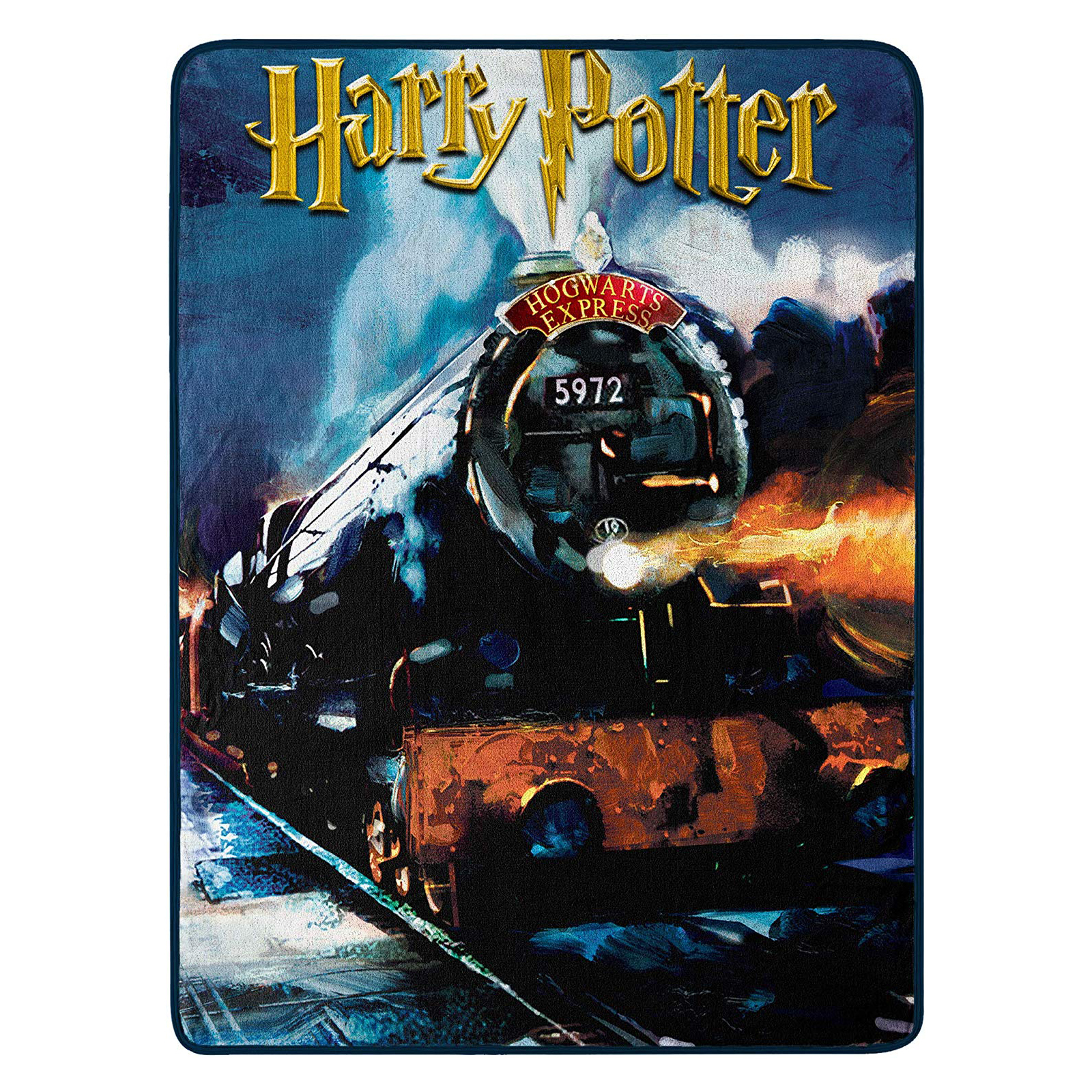 Harry Potter Hogwarts Express Soft Throw Blanket 46 x 60 In