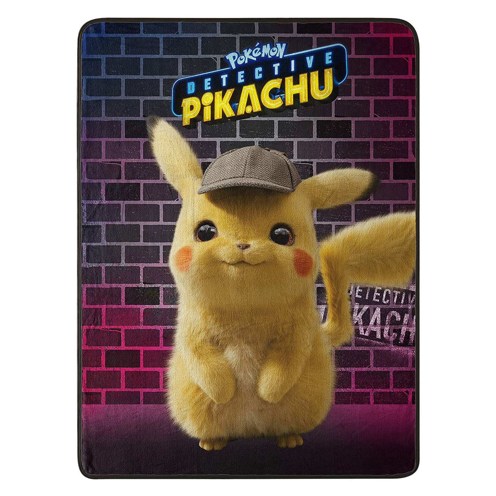 Detective Pikachu Soft Throw Blanket 46 x 60 Inch