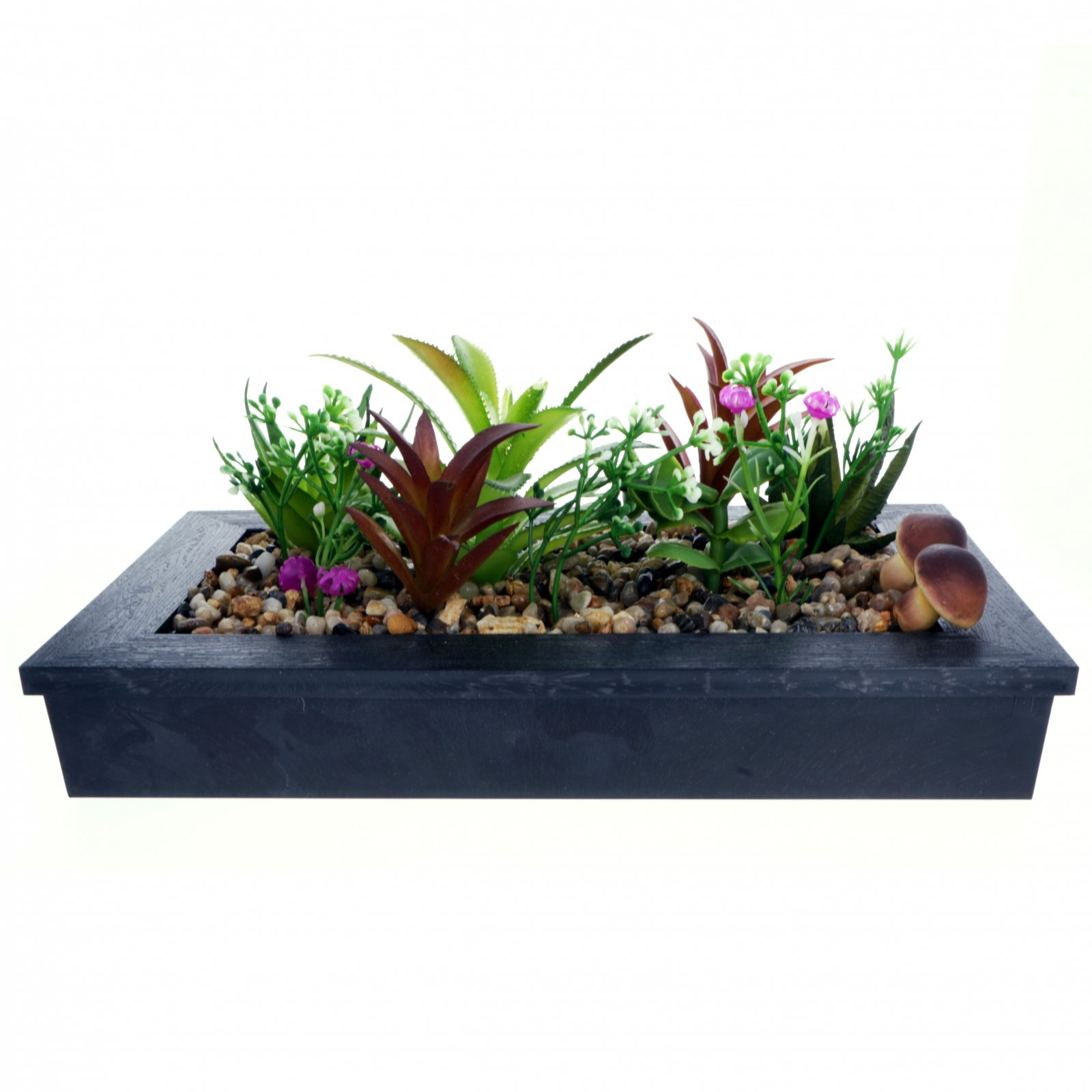 2pk Artificial Plant Garden In Planter - Black