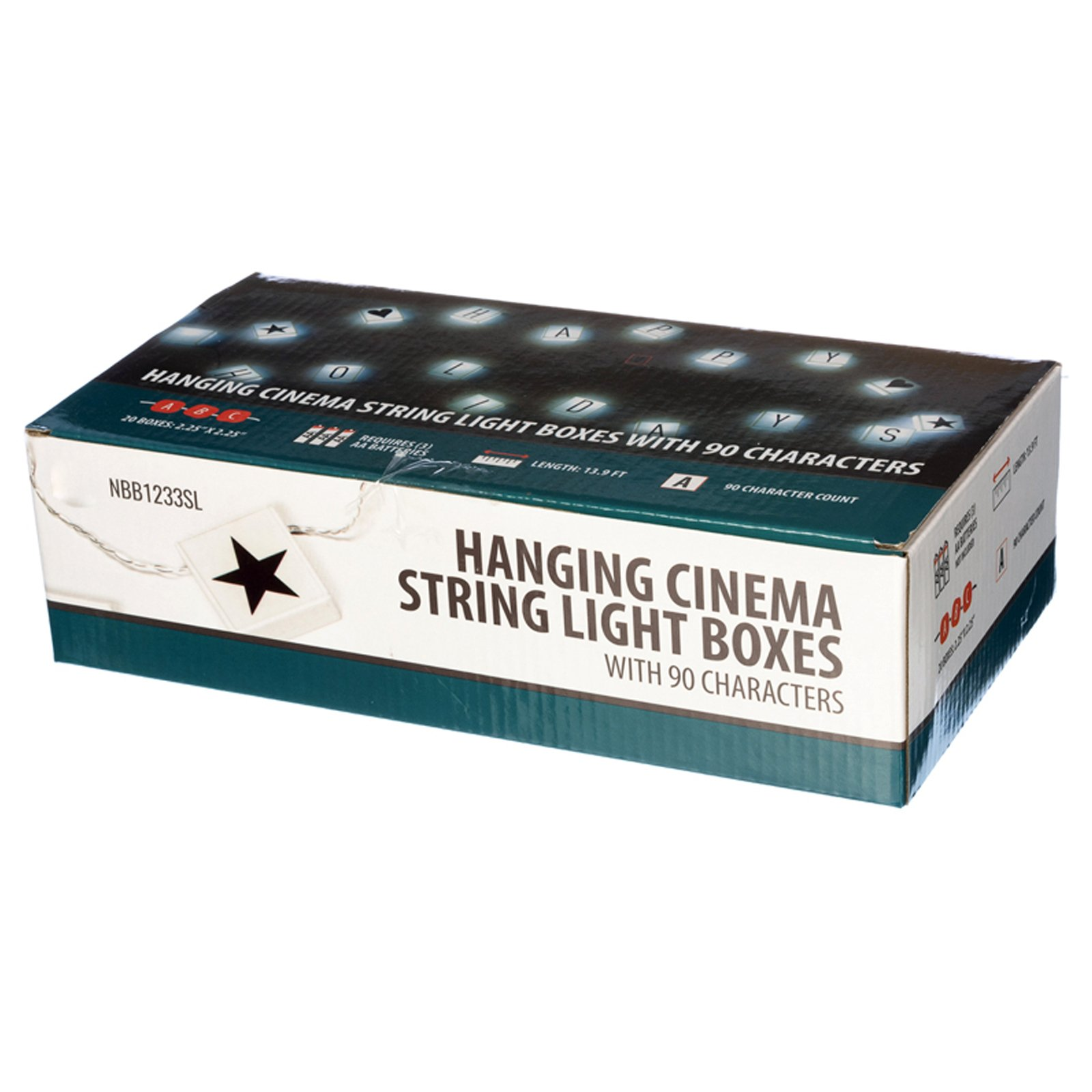 Universal Hanging Cinema String Light Boxes With 90 Characters - 20 Light Boxes