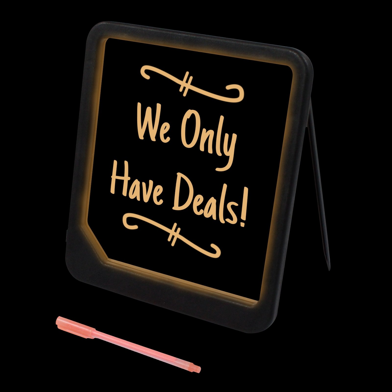 Neon Blackboard Design Ad Board Promotional Sign for Business and Event