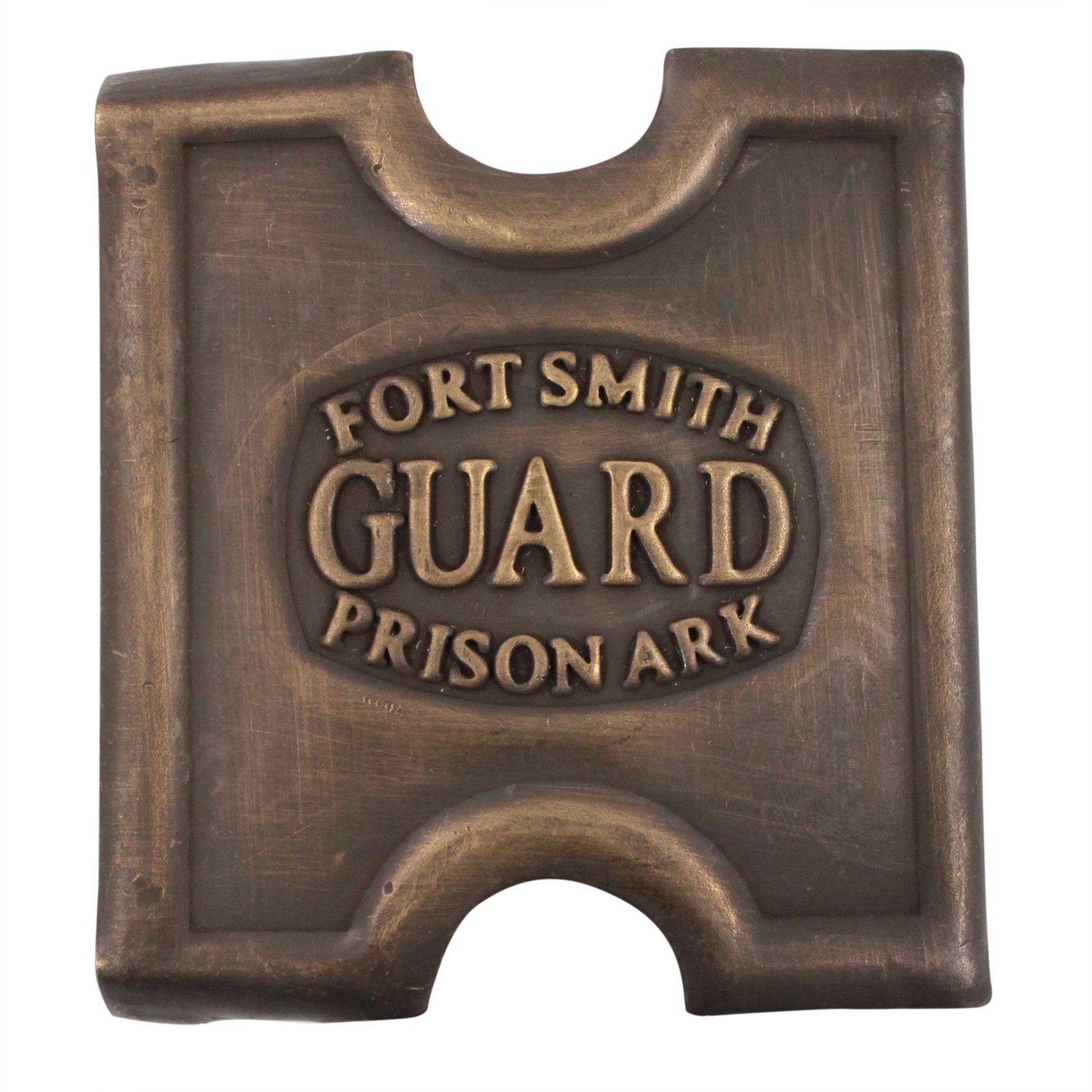 Brass Fort Smith Prison Guard Belt Buckle