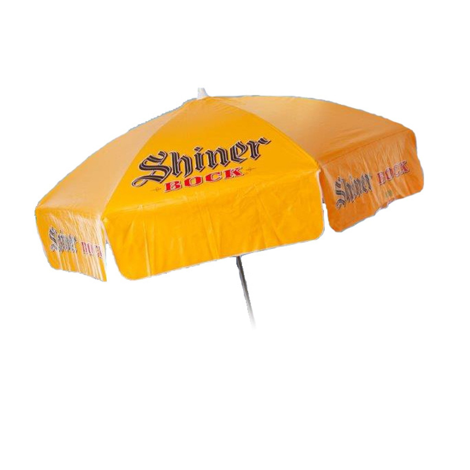 Shiner Bock 6 foot Vinyl Umbrella - Patio Pole