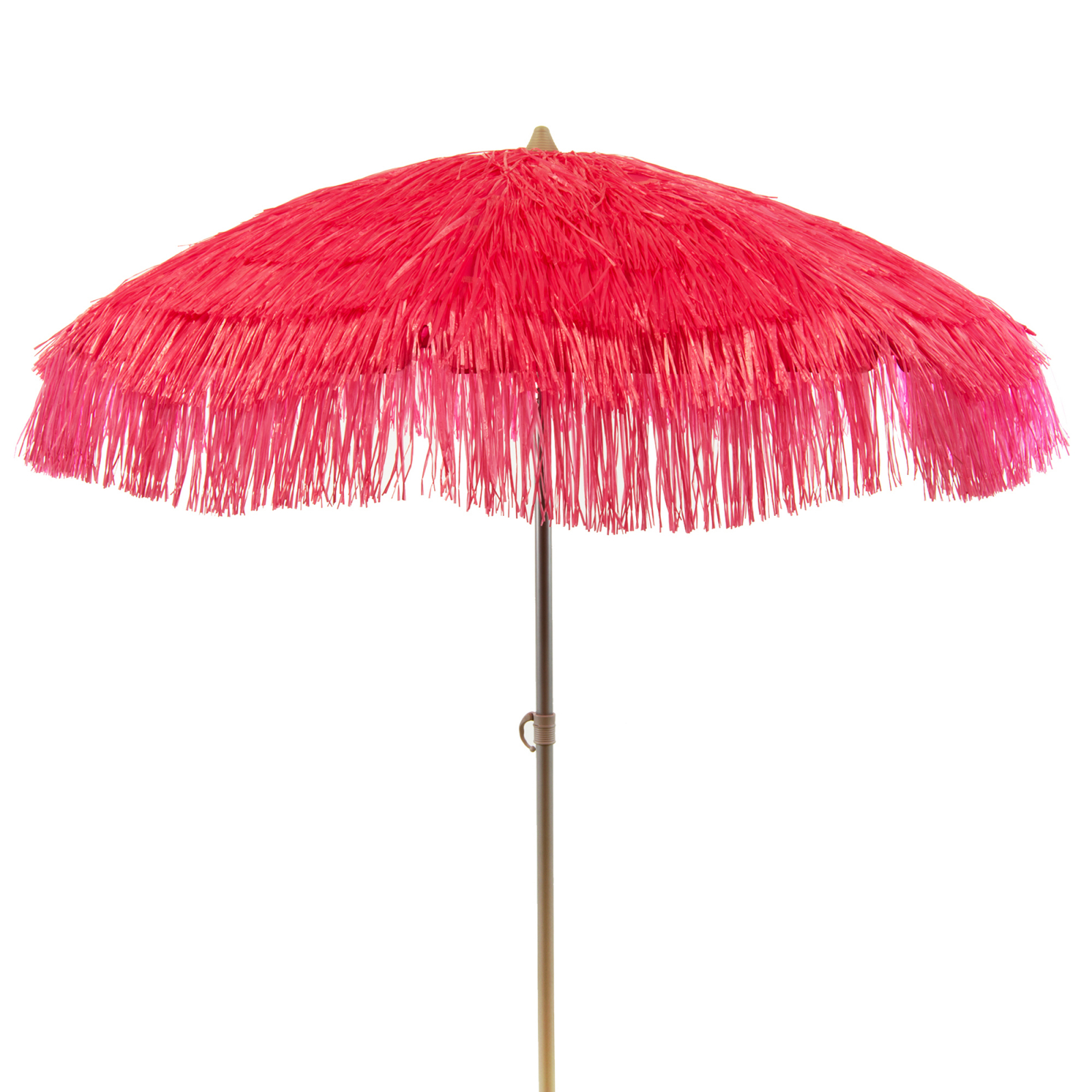 Palapa Tiki Party Umbrella Patio Tilt Home Canopy Sun Shield 6 Feet - Hot Pink