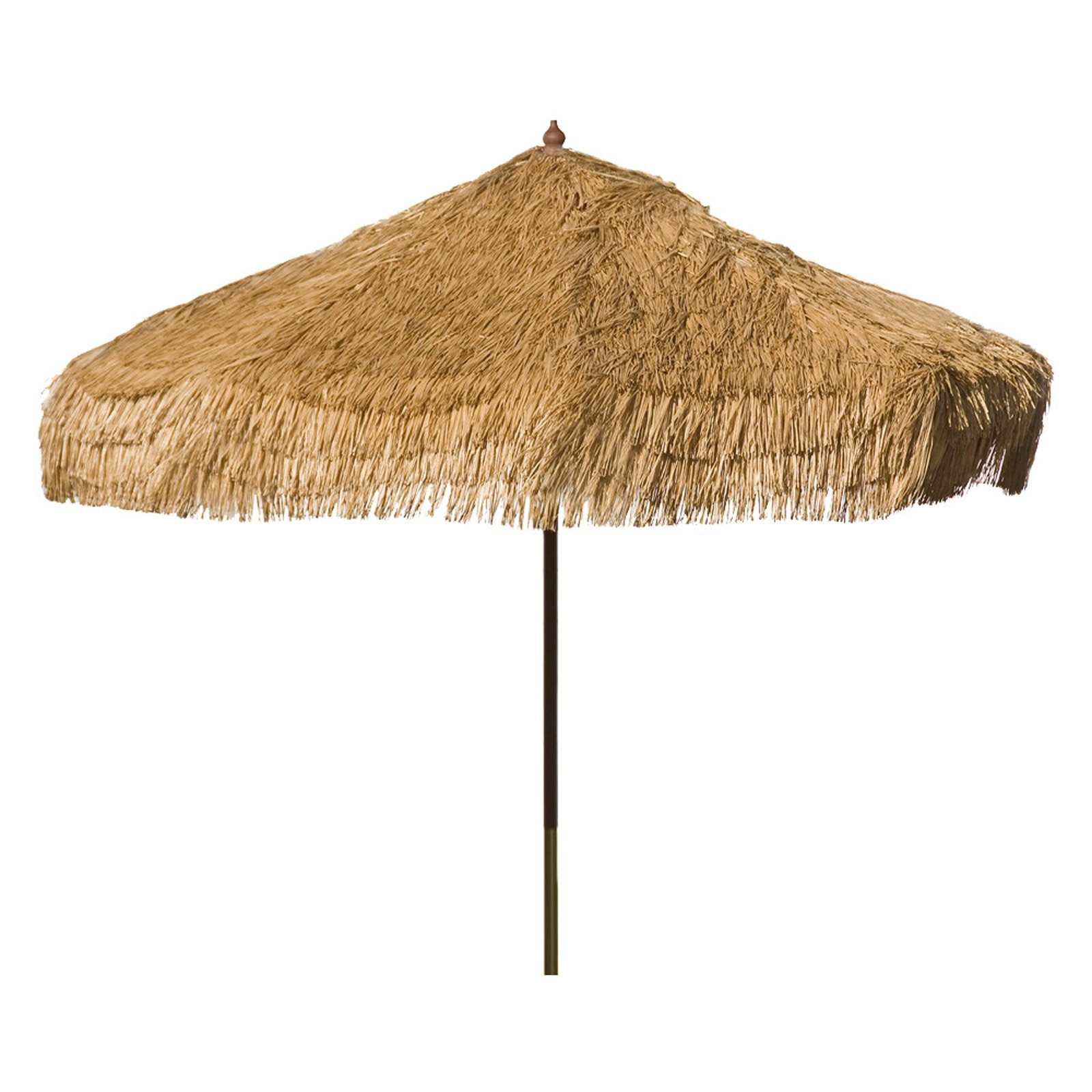 9ft Palapa Tiki Party Umbrella Home Patio Canopy Sun Brown - Patio Pole