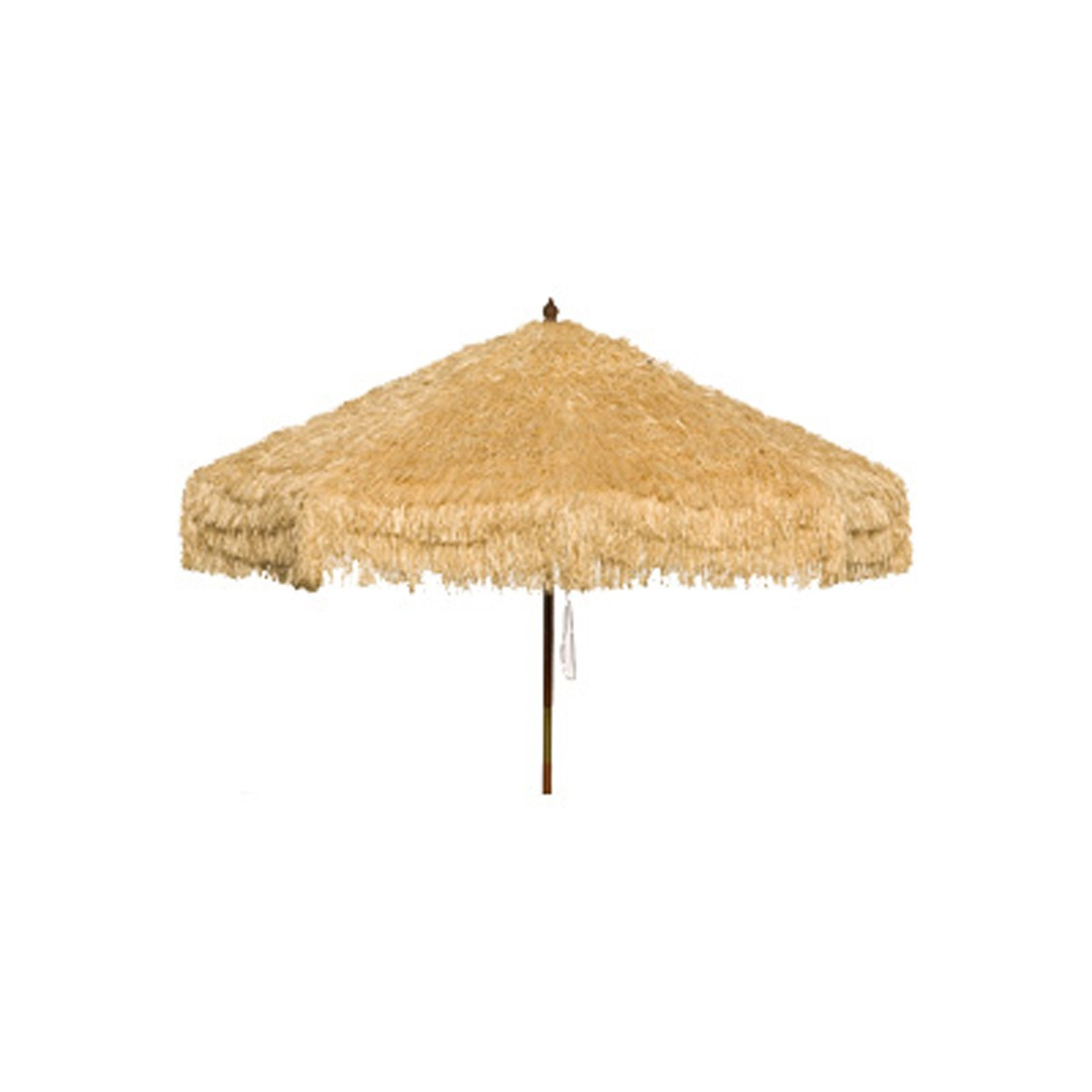 Palapa Tiki Push/Tilt Natural Cream Umbrella 9 foot - Patio Pole