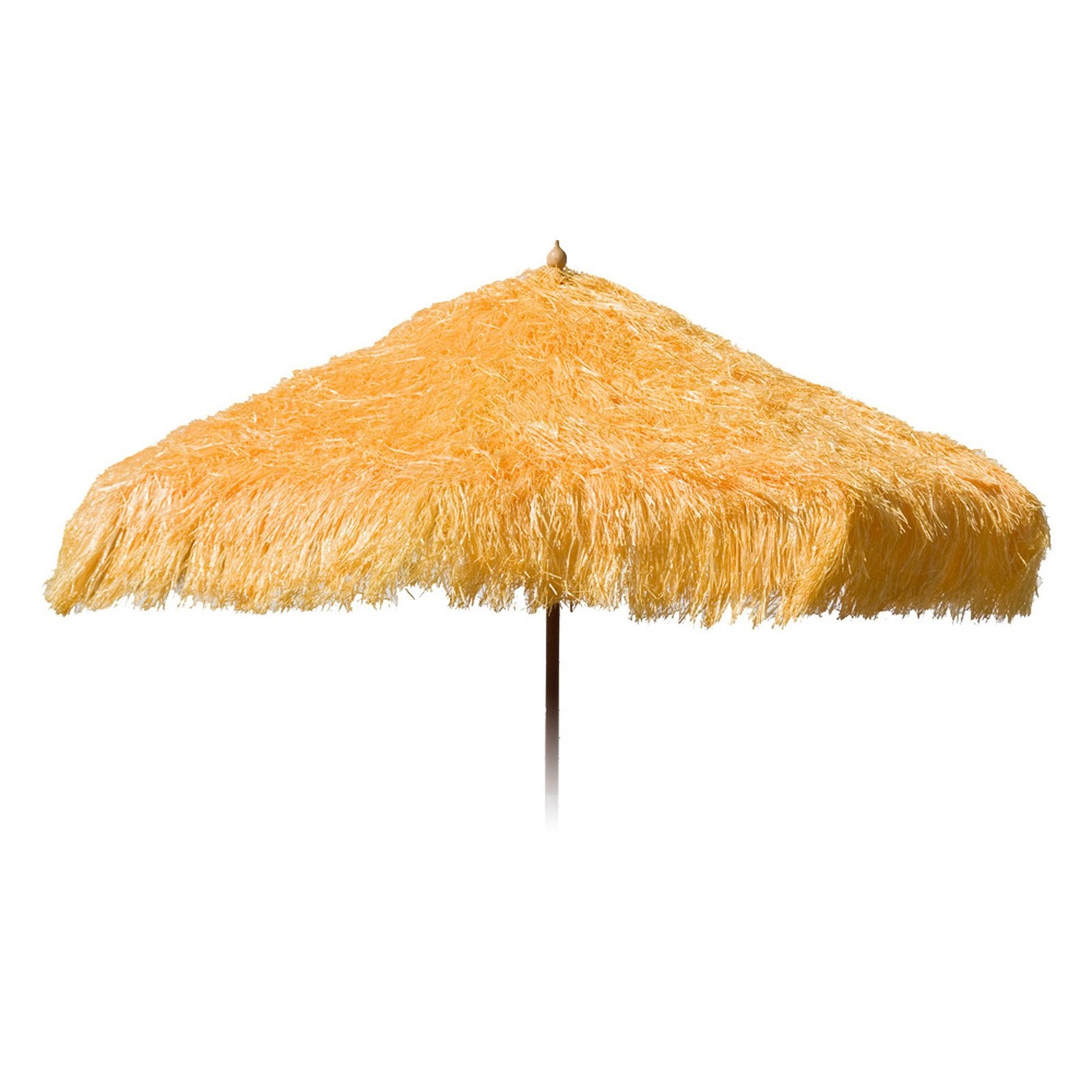 9ft Palapa Tiki Party Umbrella Home Patio Canopy Sun Yellow - Patio Pole