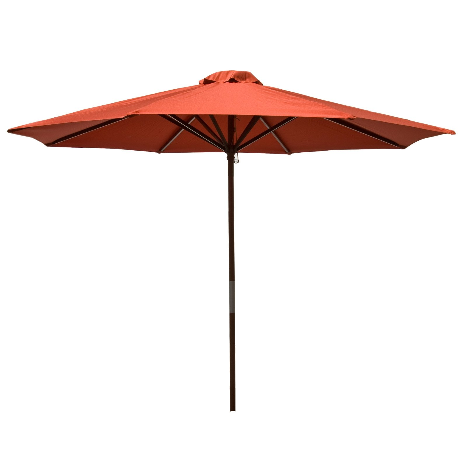 Classic Wood 9 foot Market Patio Umbrella - Chili