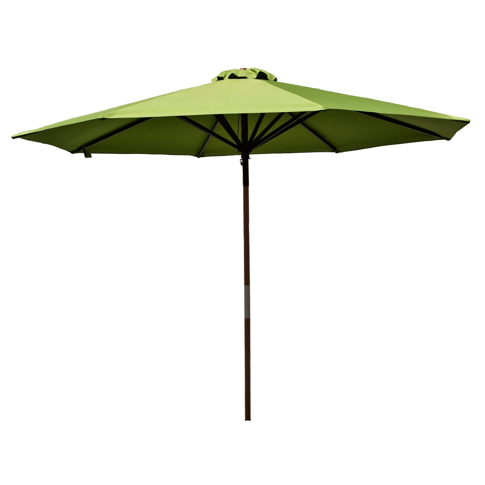 Classic Wood 9 foot Market Patio Umbrella - Lime