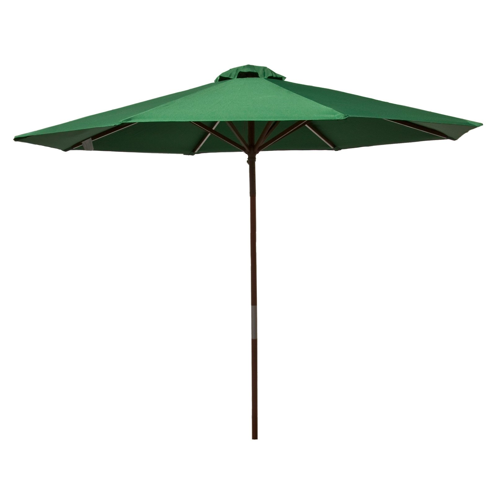Classic Wood 9 foot Market Patio Umbrella - Green