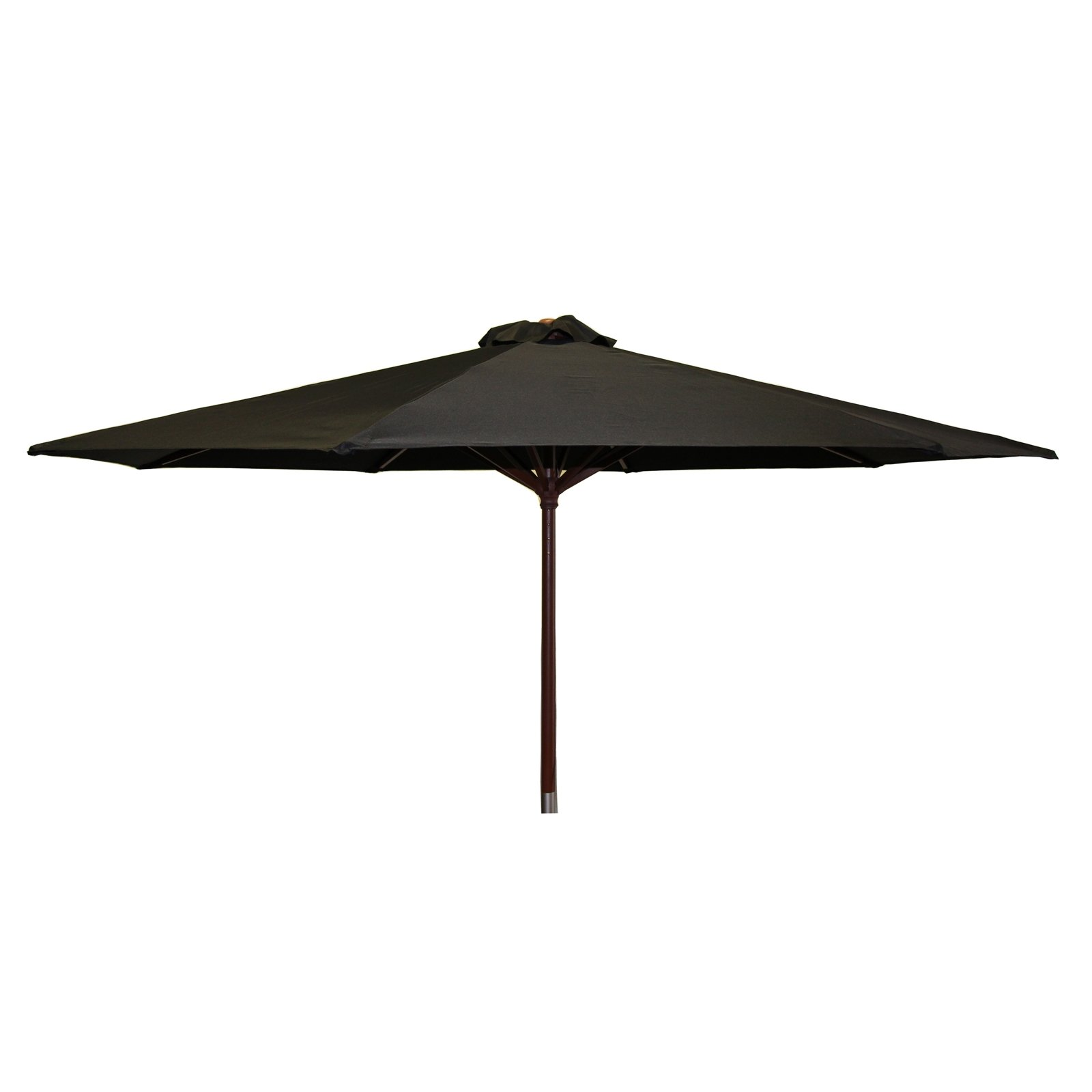 Classic Wood 9 foot Market Patio Umbrella - Black