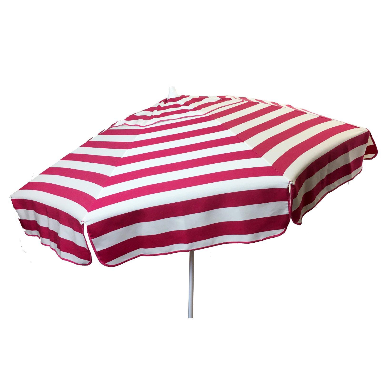 6ft Italian Market Tilt Umbrella Home Patio Sun Canopy Pink Stripe - Patio Pole
