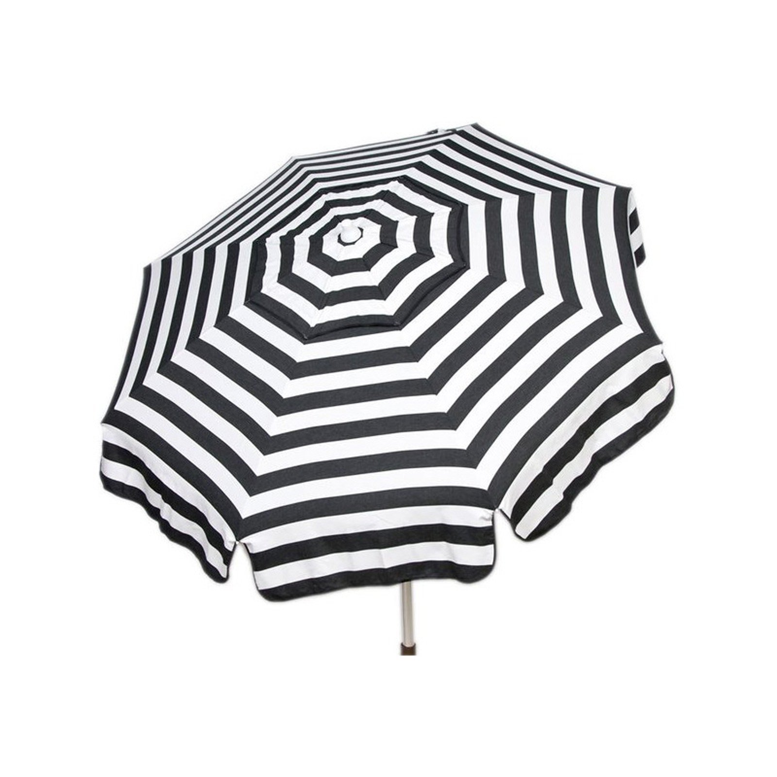 6ft Italian Market Tilt Umbrella Home Sun Patio Black Stripe - Beach Pole