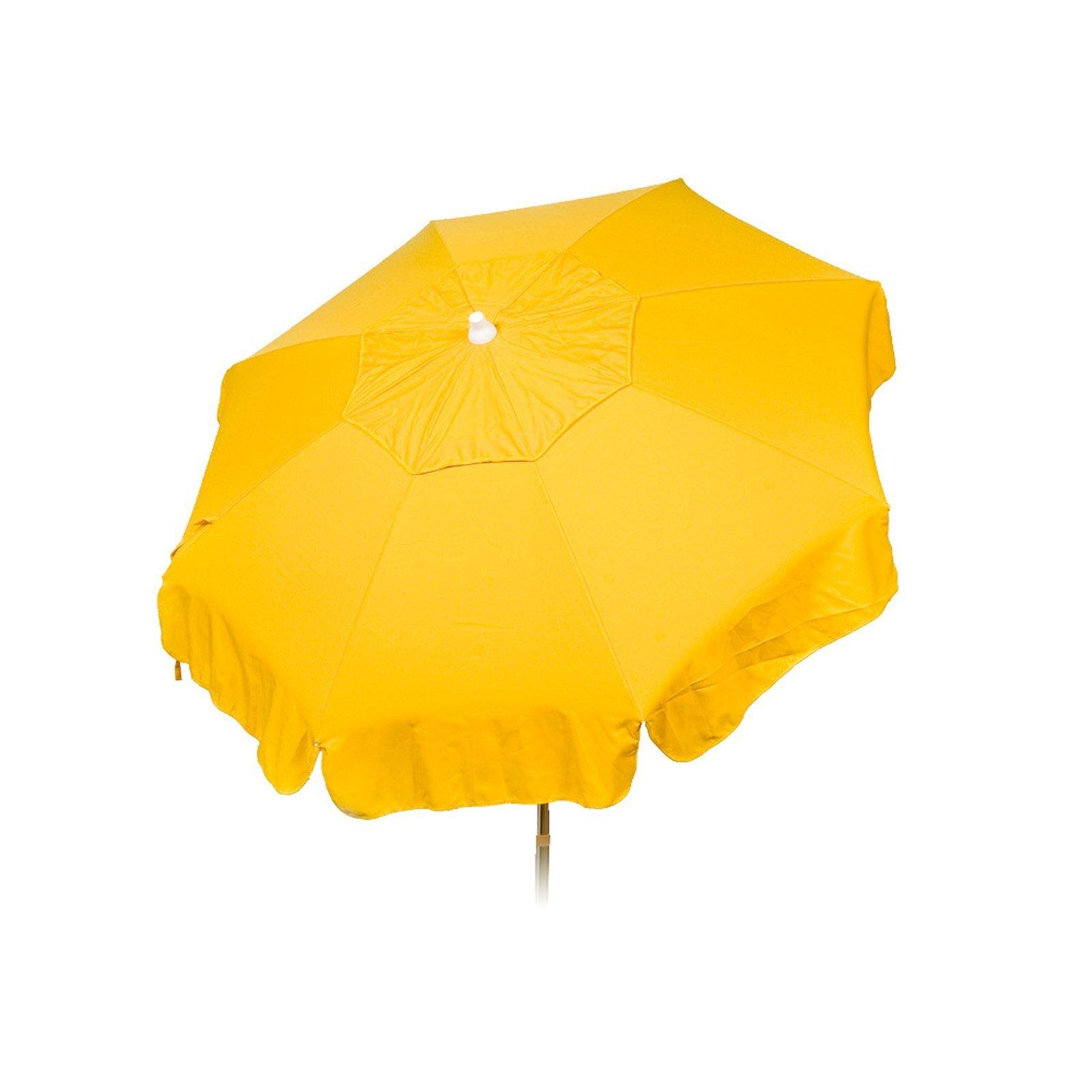 Italian 6 foot PushTilt Umbrella Acrylic Solid Yellow - Patio Pole