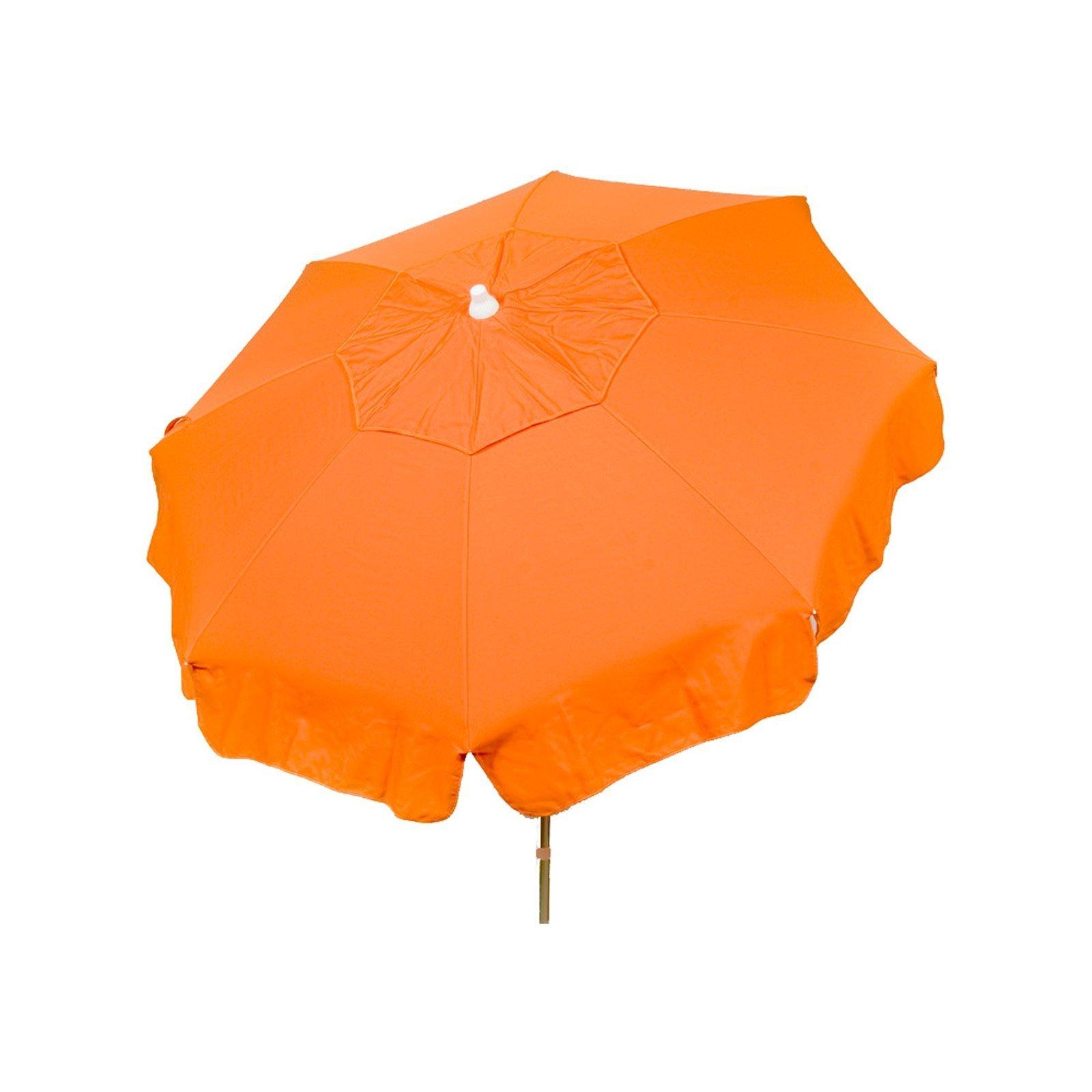 Italian 6 foot Push/Tilt Umbrella Acrylic Solid Orange - Patio Pole