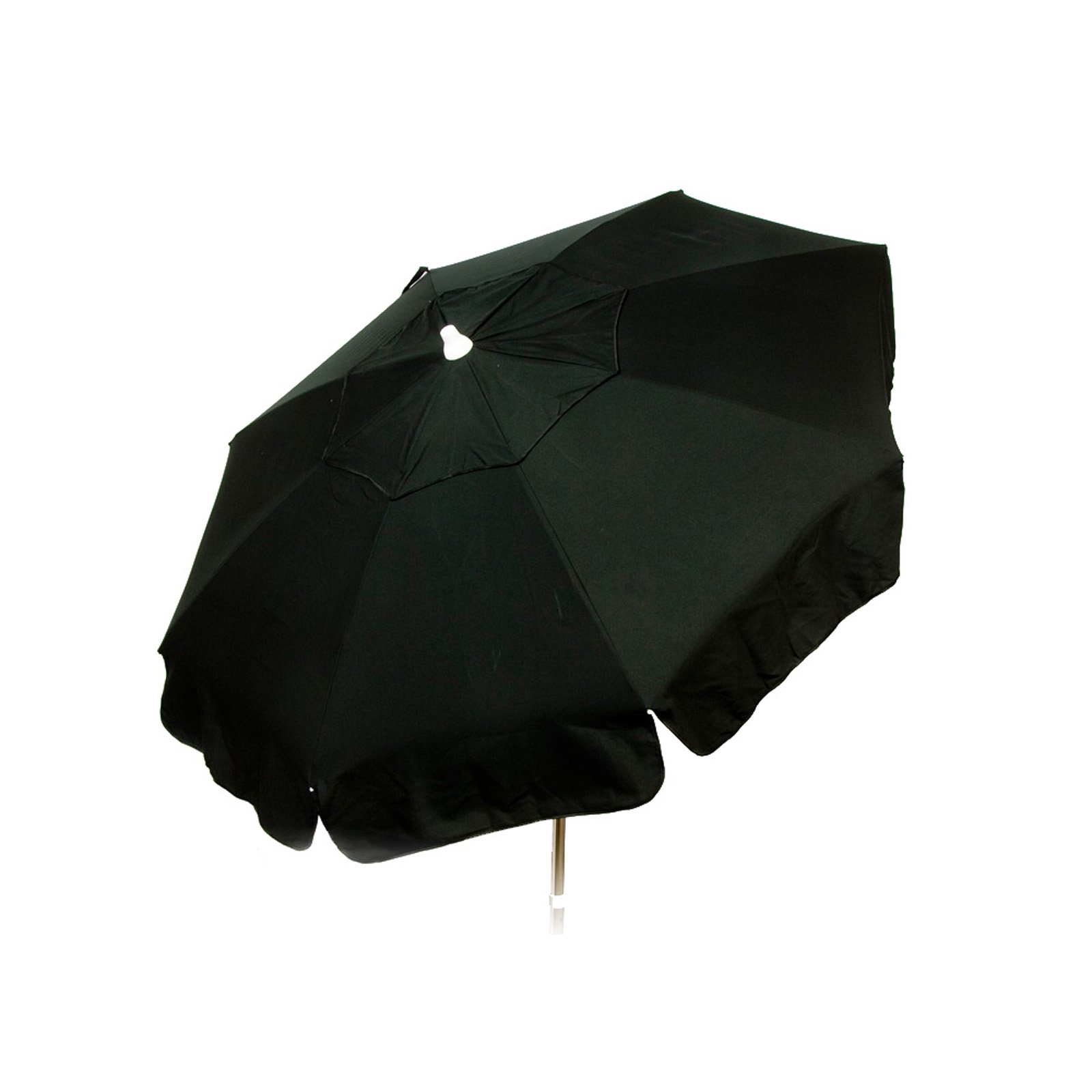 6ft Italian Market Tilt Umbrella Home Patio Canopy Sun Shelter Black Beach Pole