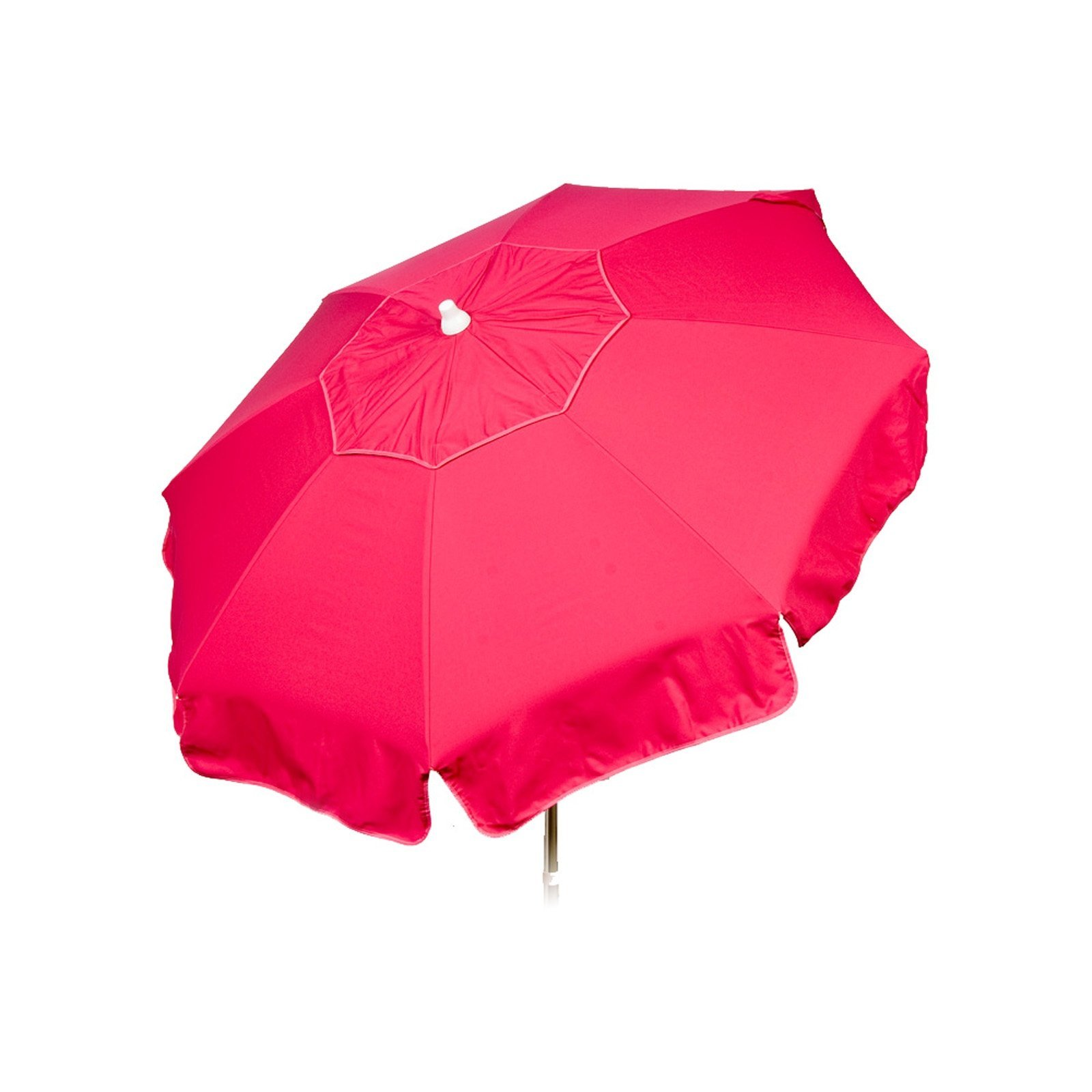 Italian 6 foot Push/Tilt Umbrella Acrylic Solid Fuchsia - Patio Pole