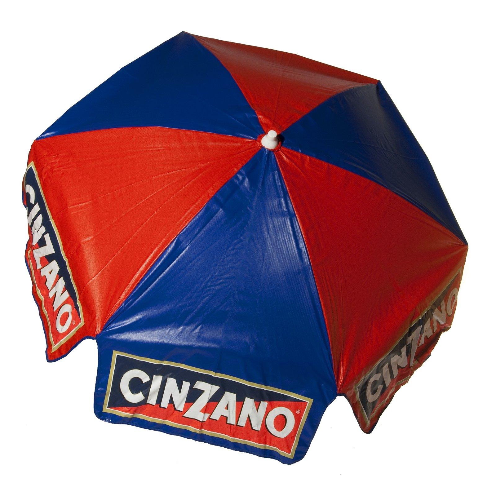 6ft Licensed Cinzano Tilt Patio Outdoor Market Umbrella Home Canopy - Beach Pole