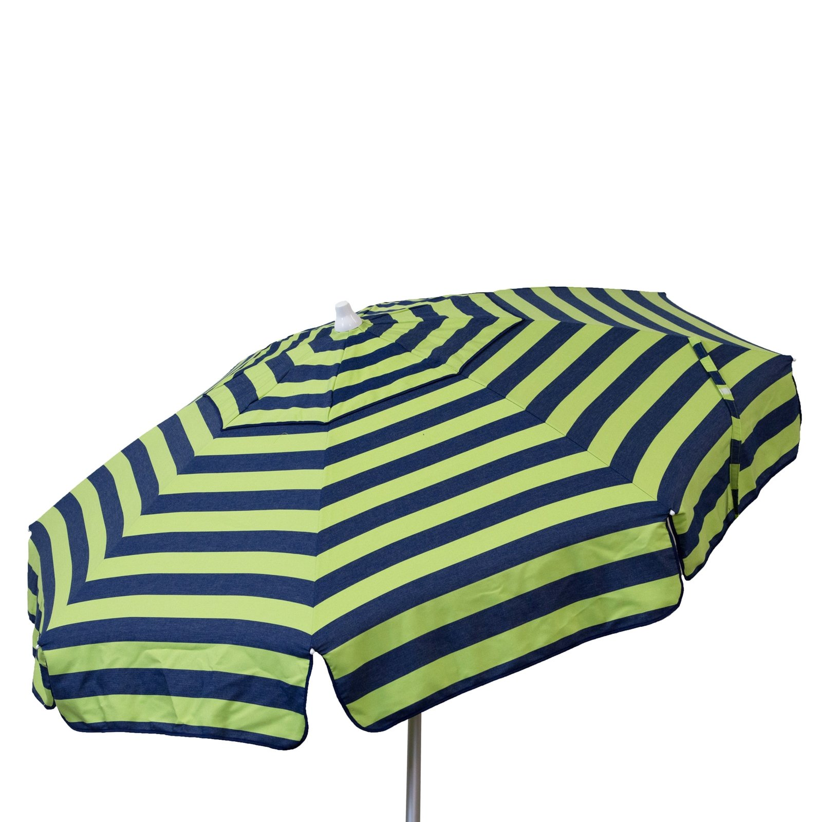 Euro 6 foot Umbrella Acrylic Stripes Navy and Lime - Beach Pole