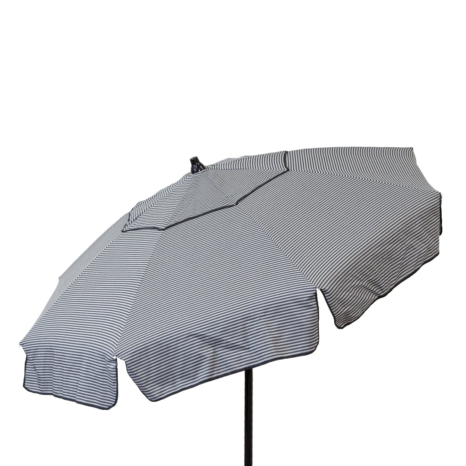 Euro 6 foot Umbrella Acrylic Stripes Grey and Black - Beach Pole