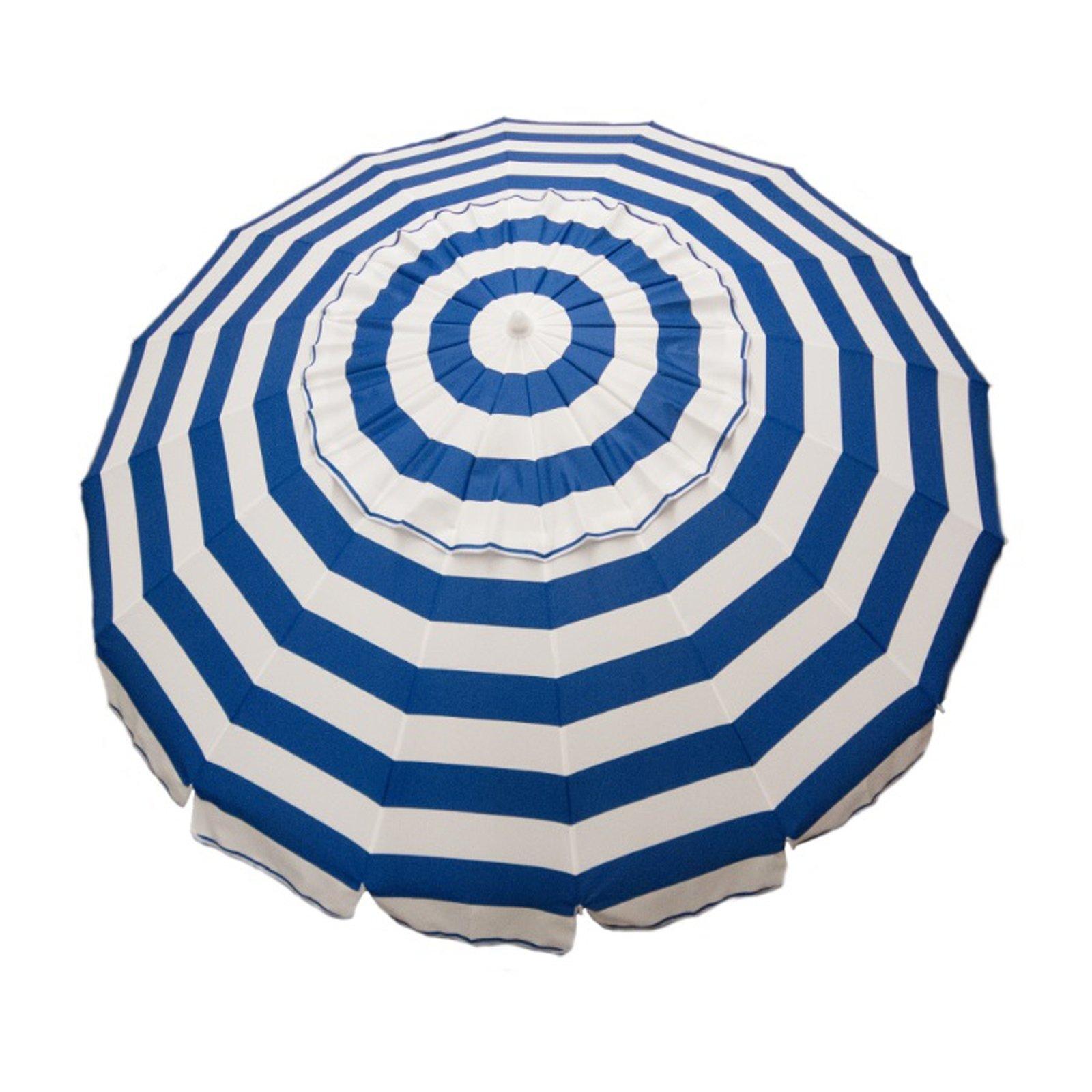 7ft Tilt Outdoor Aluminum Beach Umbrella for Home Patio Sun Shade - Royal Blue