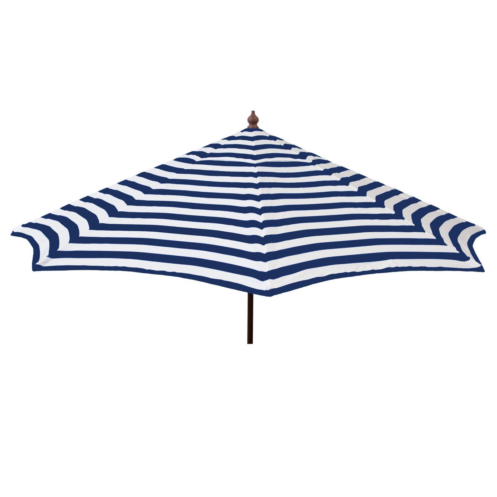 9ft Tilt Italian Market Umbrella Home Patio Canopy Sun Shelter - Blue and White