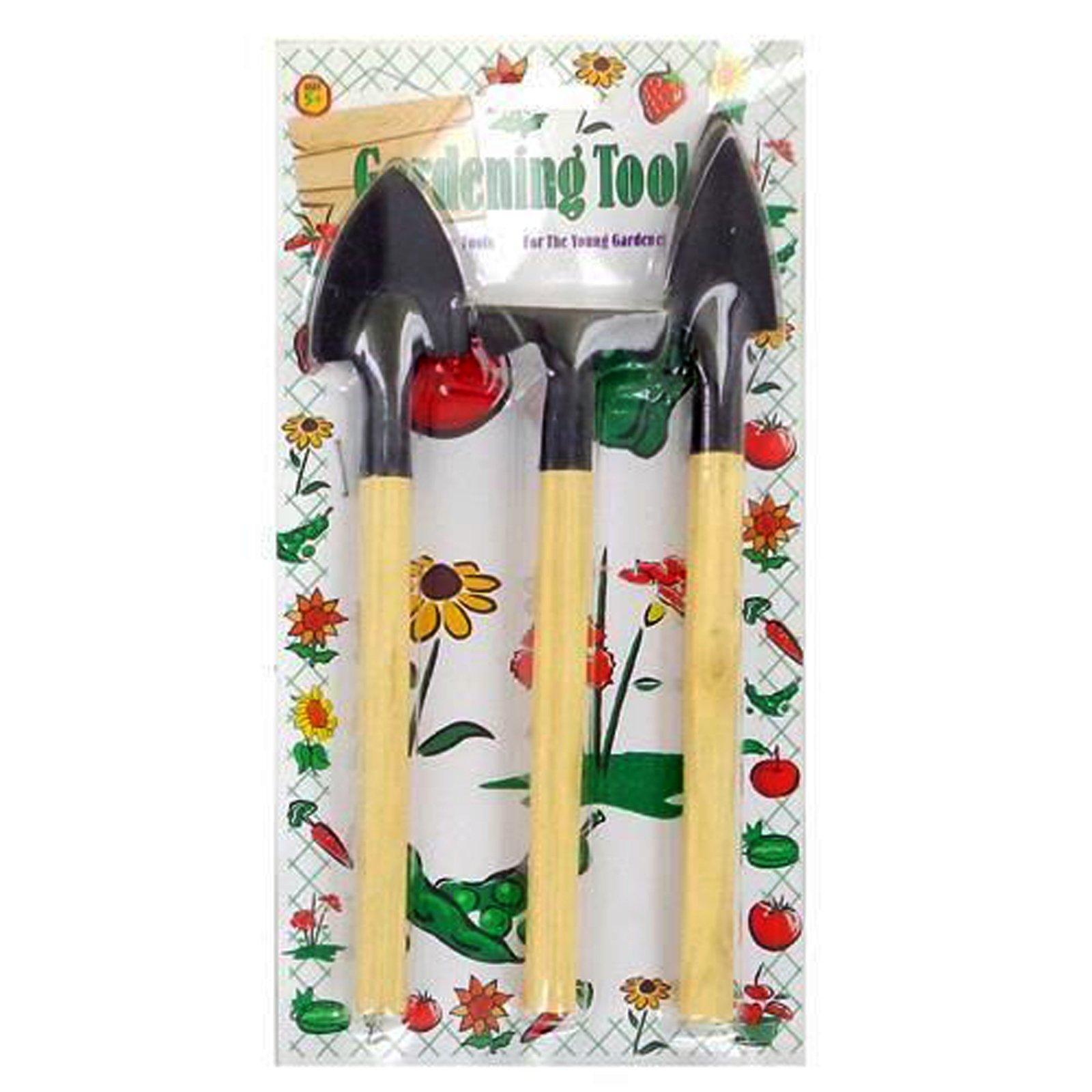 3 Piece Mini Wooden Handheld Gardening Tool Set