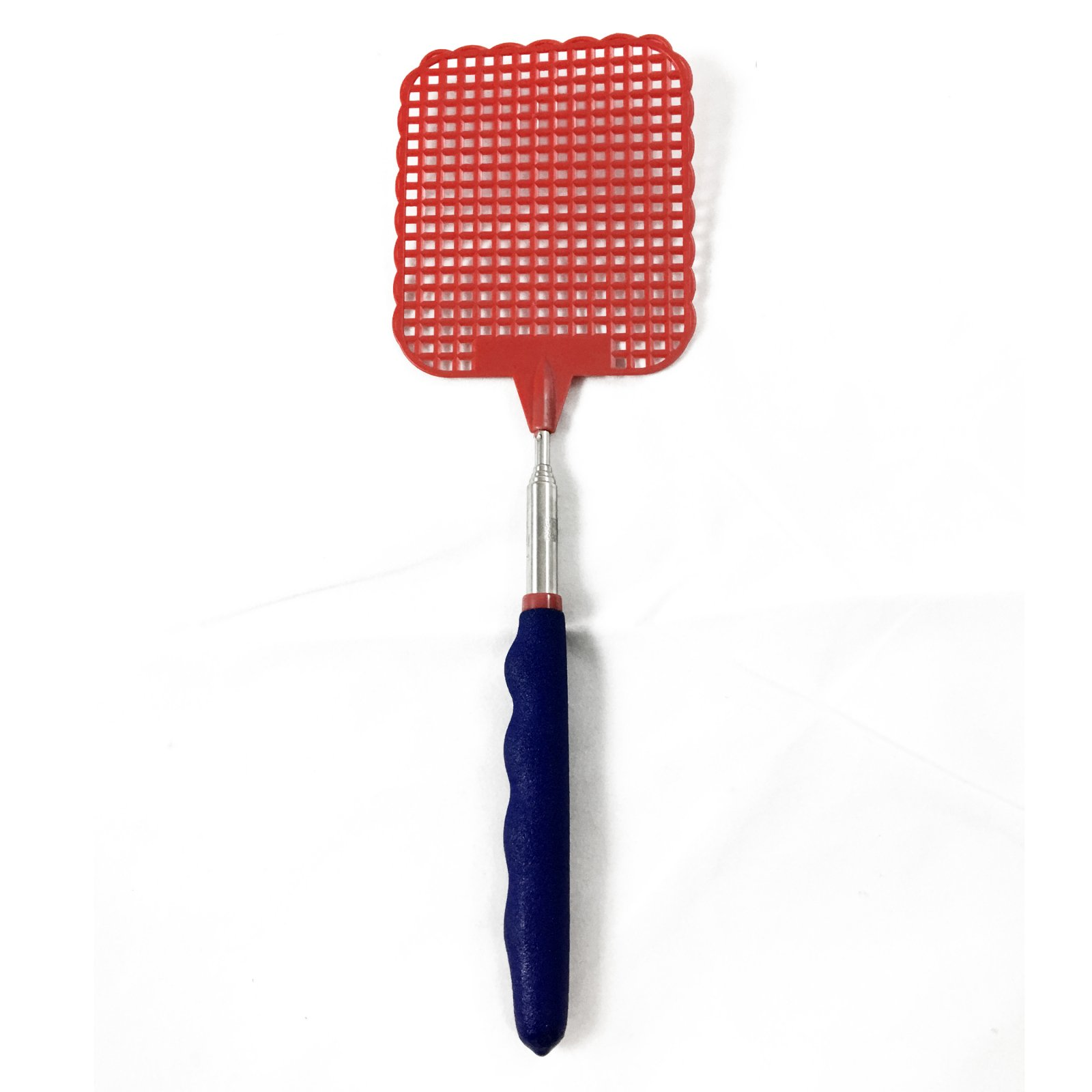 ASR Outdoor  Extendable Fly Swatter Durable Telescopic Pole Anti Slip Red