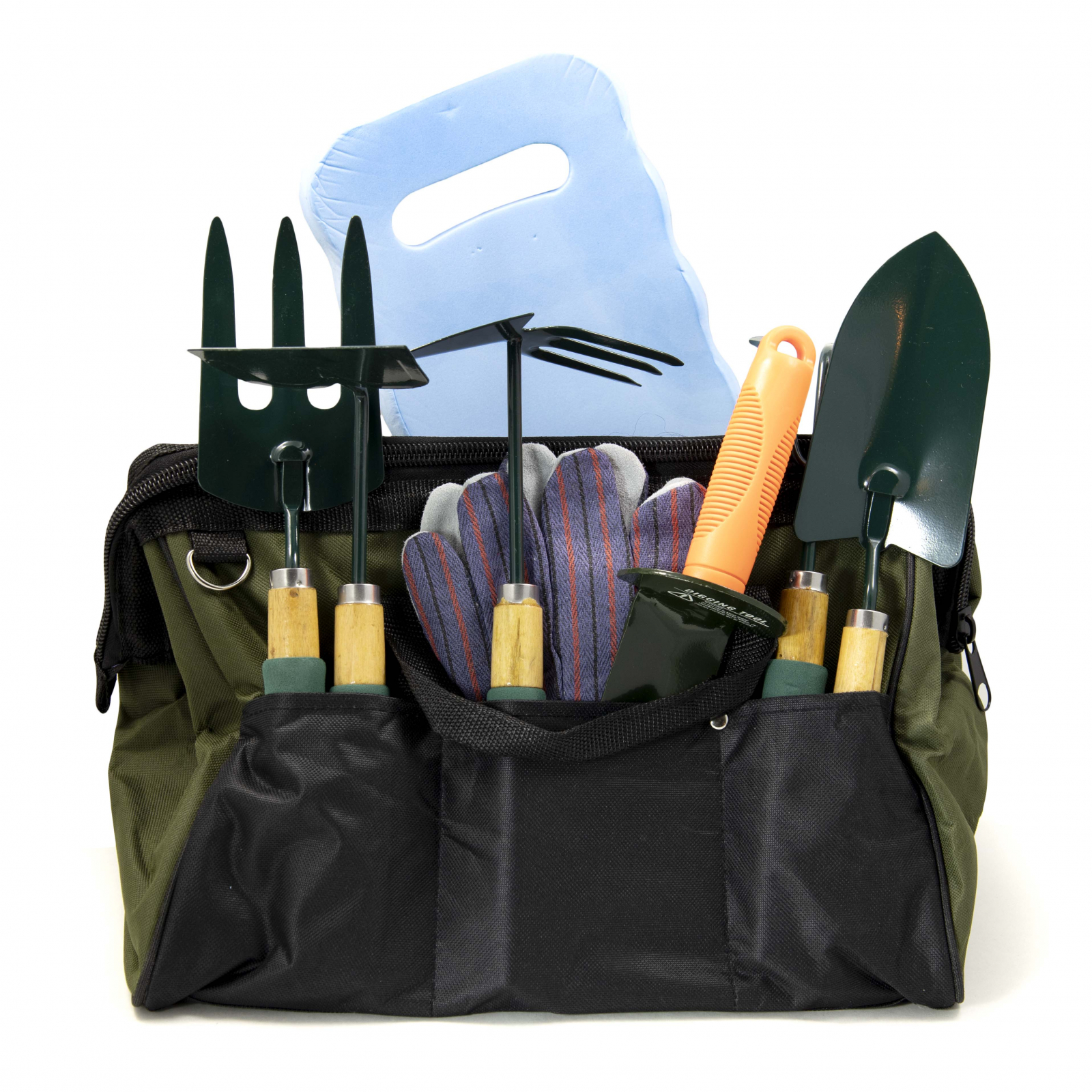 ToolTreaux Garden Tools Set with Fork Hoe Rake Shovel Spade