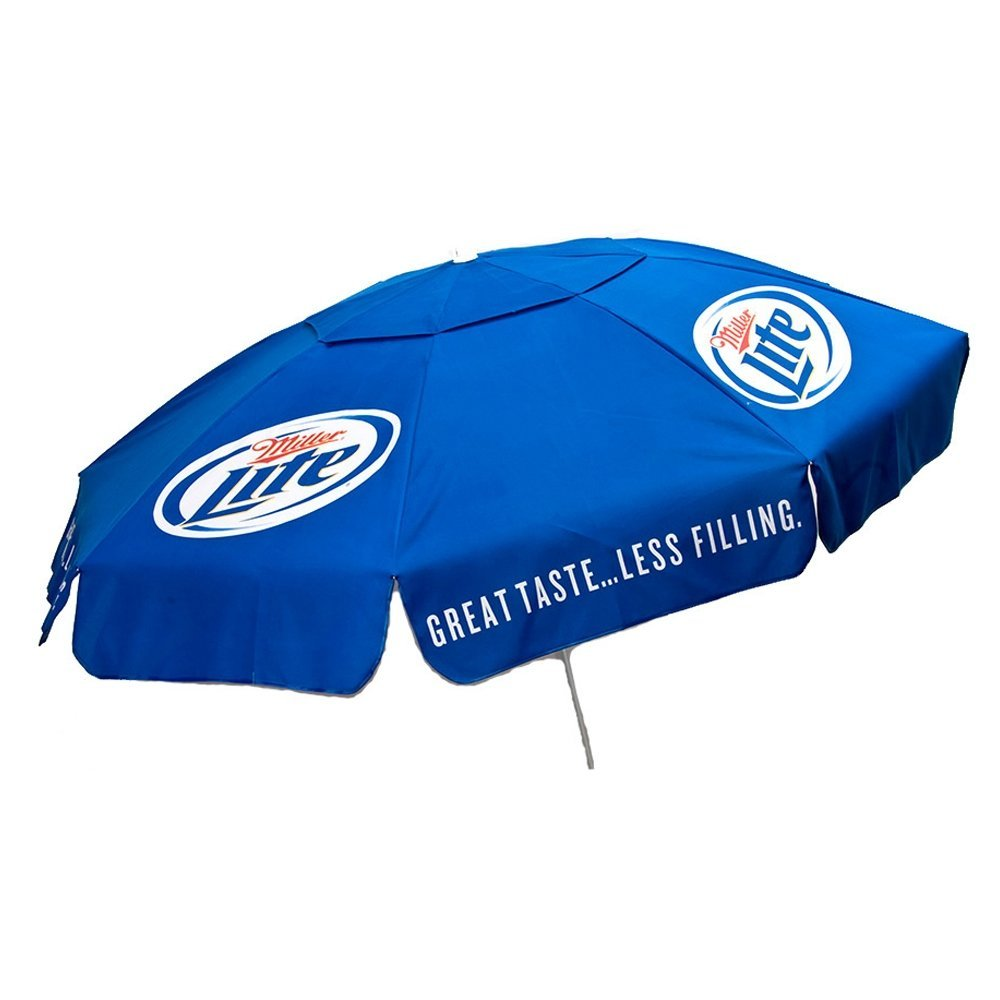 Miller Lite Patio Umbrella 6 Foot Authentic Logo