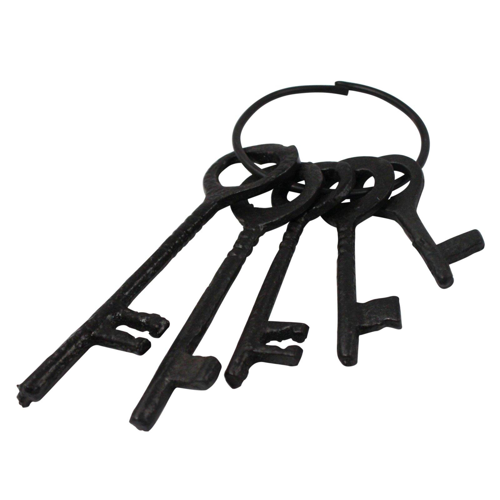 Antique Cast Iron Jailer Skeleton Key Set