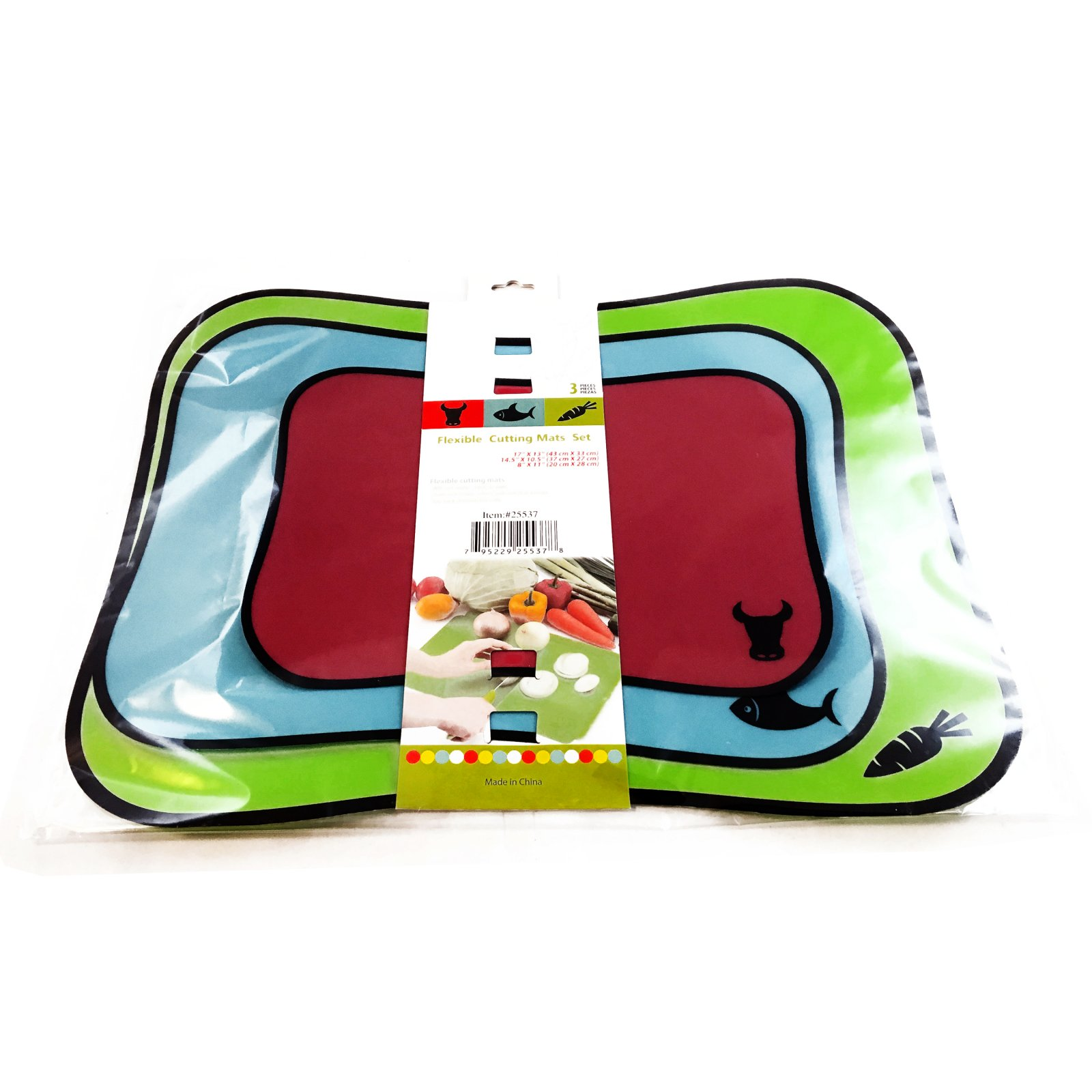 Universal Home Flexible Cutting Mat Kitchen Set No Warp Dishwasher Safe 3 Sizes